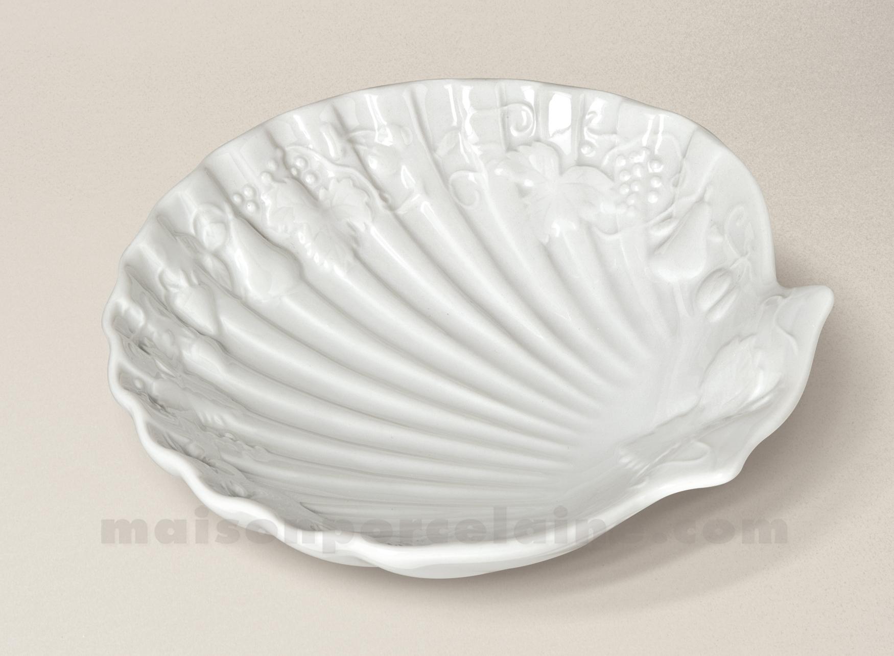 coquille st jacques california porcelaine blanche 15x14 maison de la porcelaine. Black Bedroom Furniture Sets. Home Design Ideas