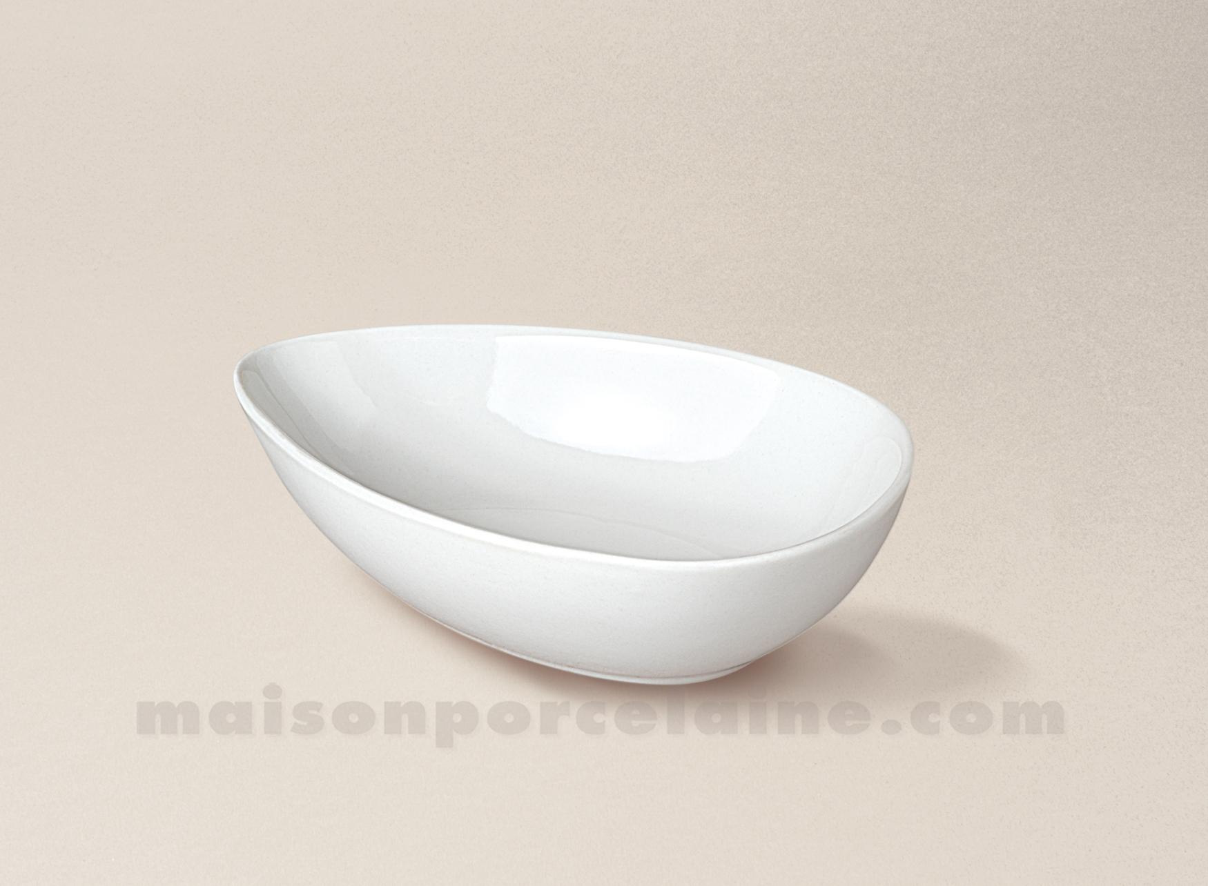 Coupelle avocat porcelaine blanche 13x8 maison de la porcelaine - La porcelaine blanche ...