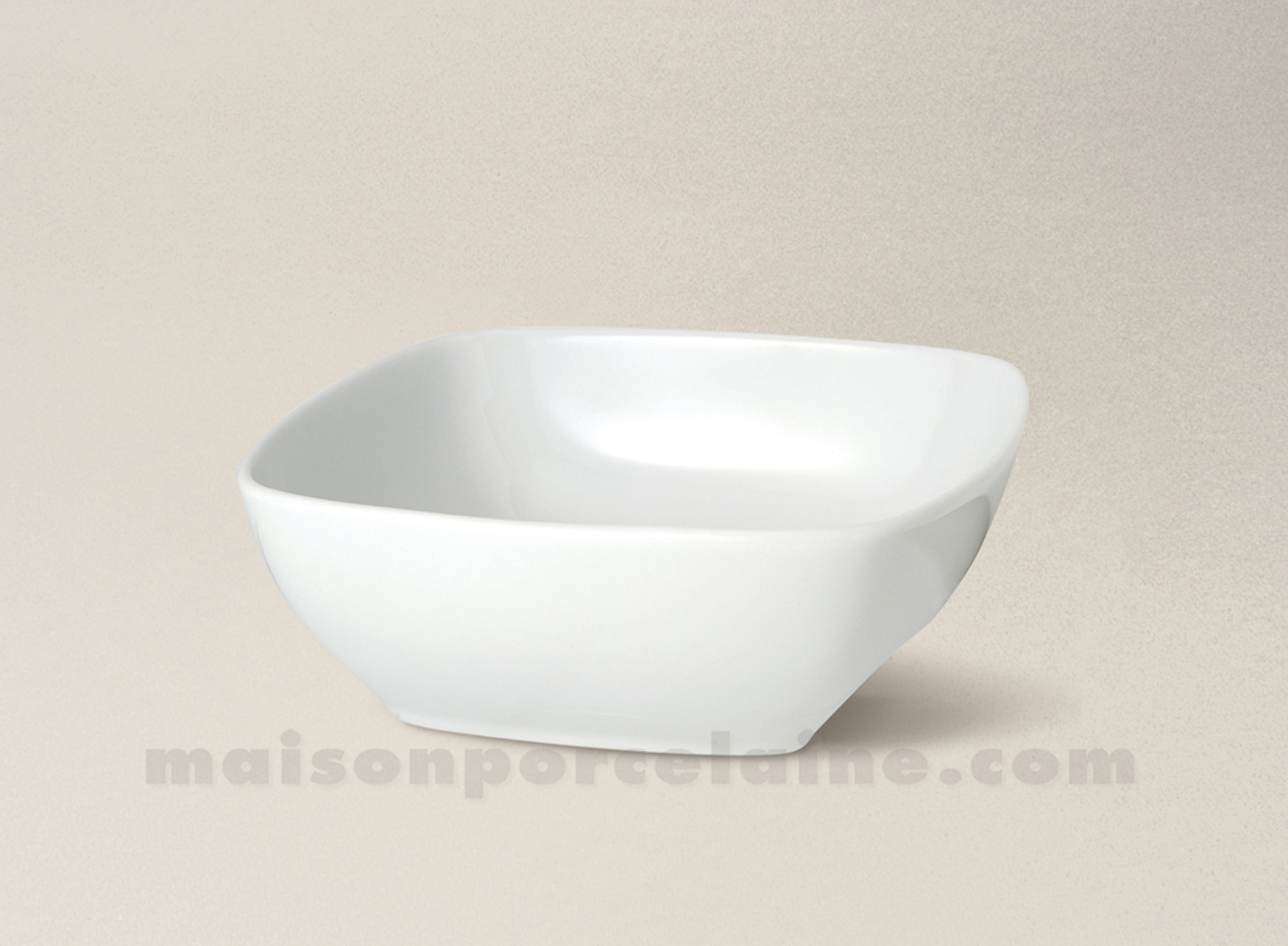 Coupelle Carree Porcelaine Blanche Sahara 12x12 Maison