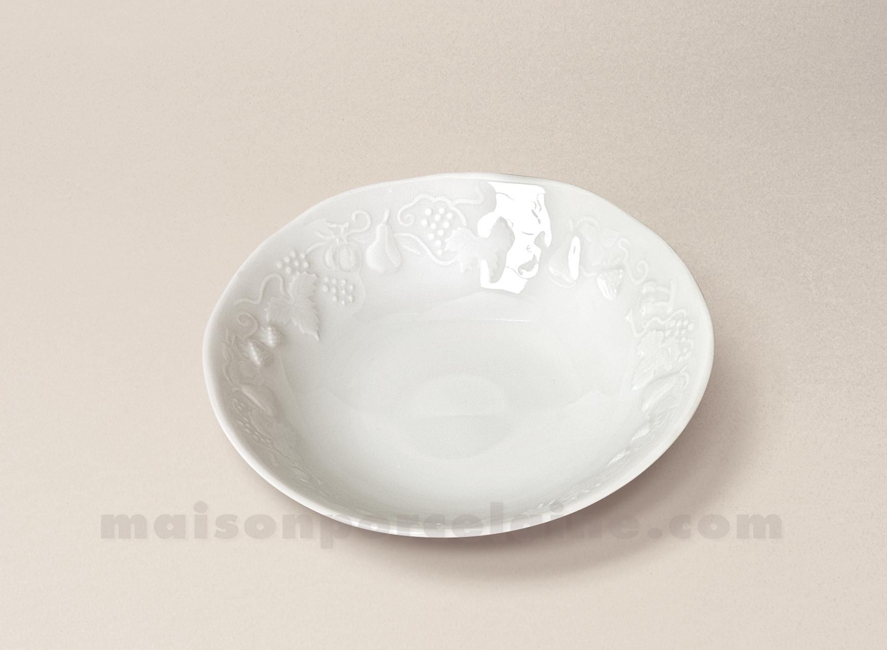 coupelle creme california limoges porcelaine blanche d14 5 maison de la porcelaine. Black Bedroom Furniture Sets. Home Design Ideas