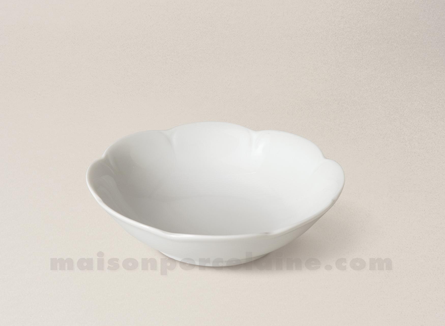 Coupelle creme limoges porcelaine blanche nymphea d13 5 - La maison de porcelaine ...