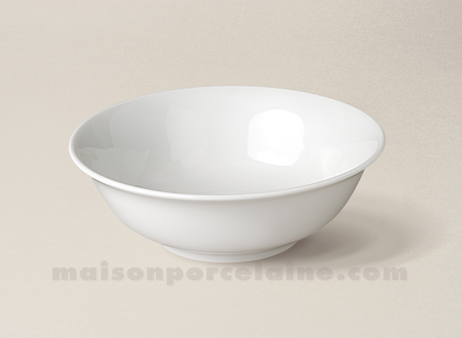 Coupelle porcelaine blanche conique sologne 13x4 maison for Maison de la porcelaine