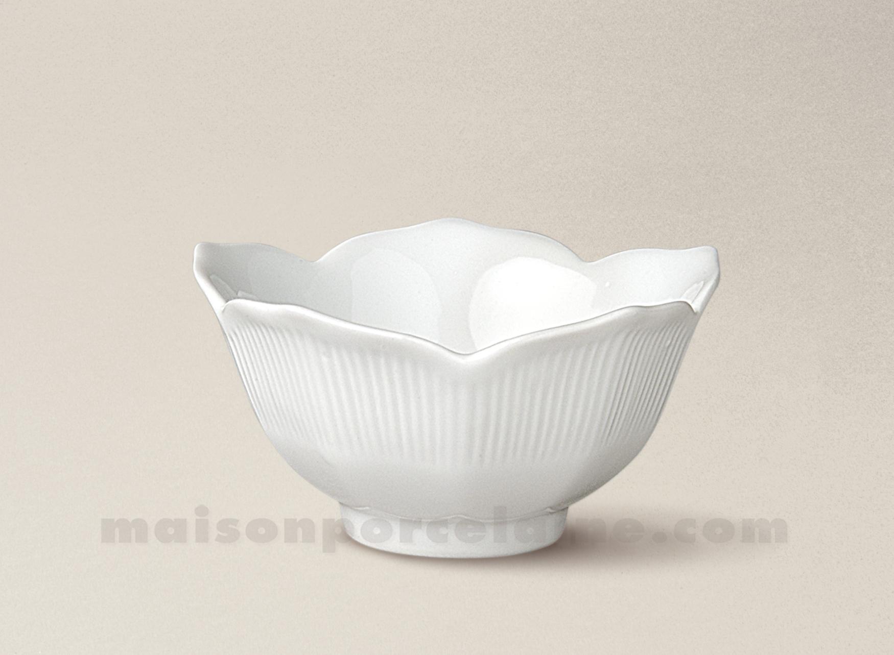 coupelle porcelaine blanche lotus mini 9x5 maison de la porcelaine. Black Bedroom Furniture Sets. Home Design Ideas