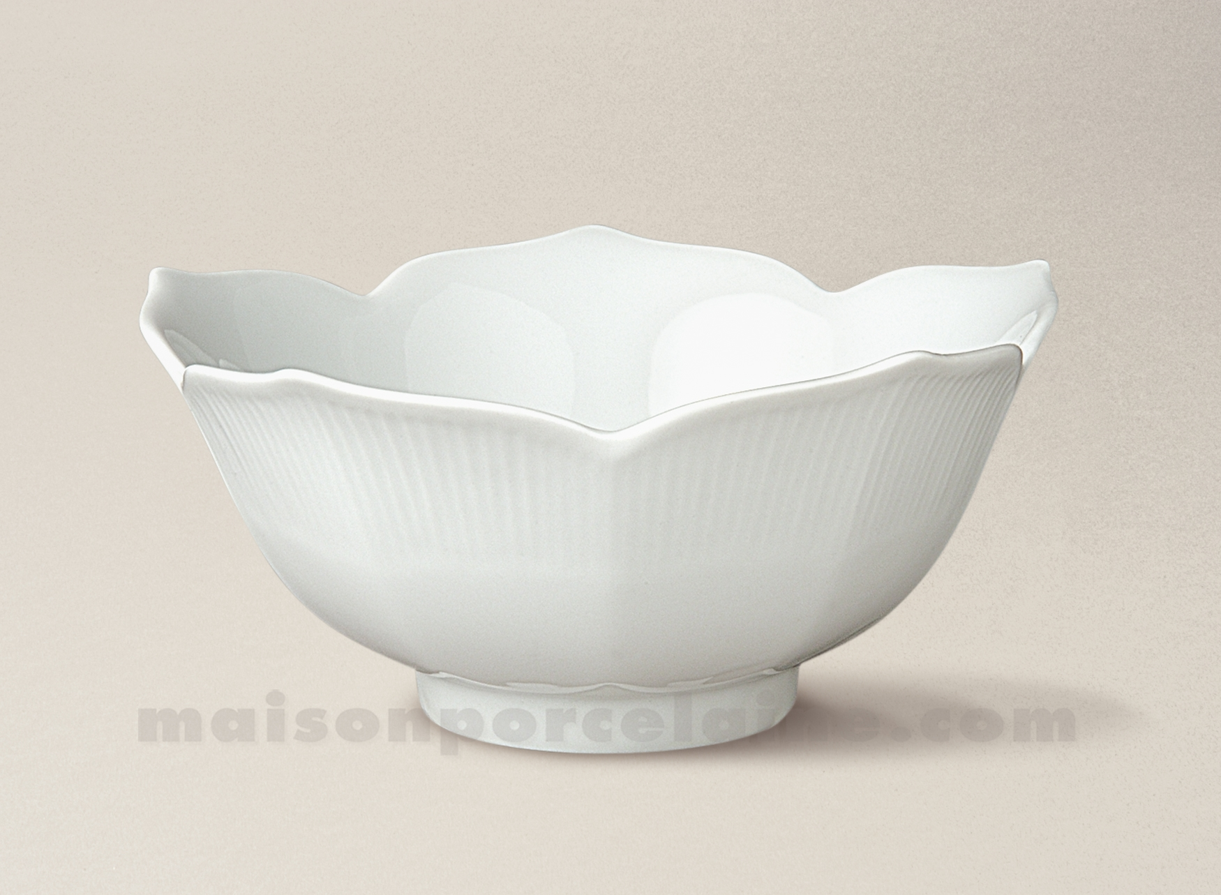 coupelle porcelaine blanche lotus mm 15x5 maison de la porcelaine. Black Bedroom Furniture Sets. Home Design Ideas