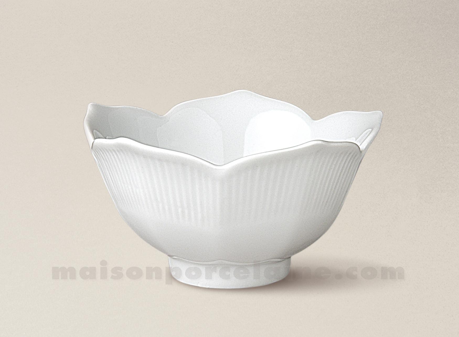 coupelle porcelaine blanche lotus pm 11x6 maison de la porcelaine. Black Bedroom Furniture Sets. Home Design Ideas