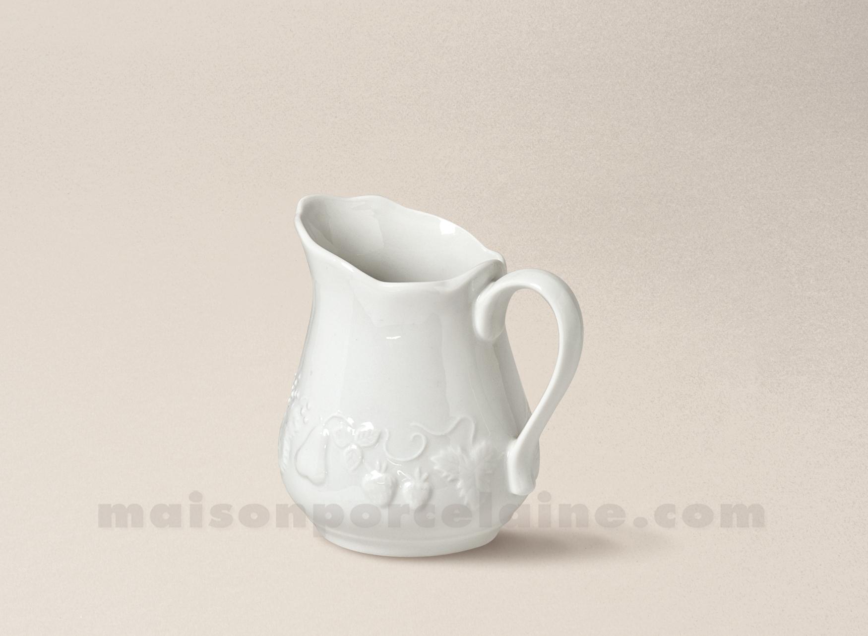 cremier california porcelaine blanche 25cl maison de la porcelaine. Black Bedroom Furniture Sets. Home Design Ideas