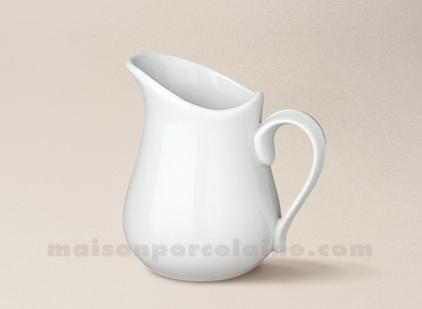 Cremier porcelaine blanche boule n 2 48cl maison de la for Maison de la porcelaine