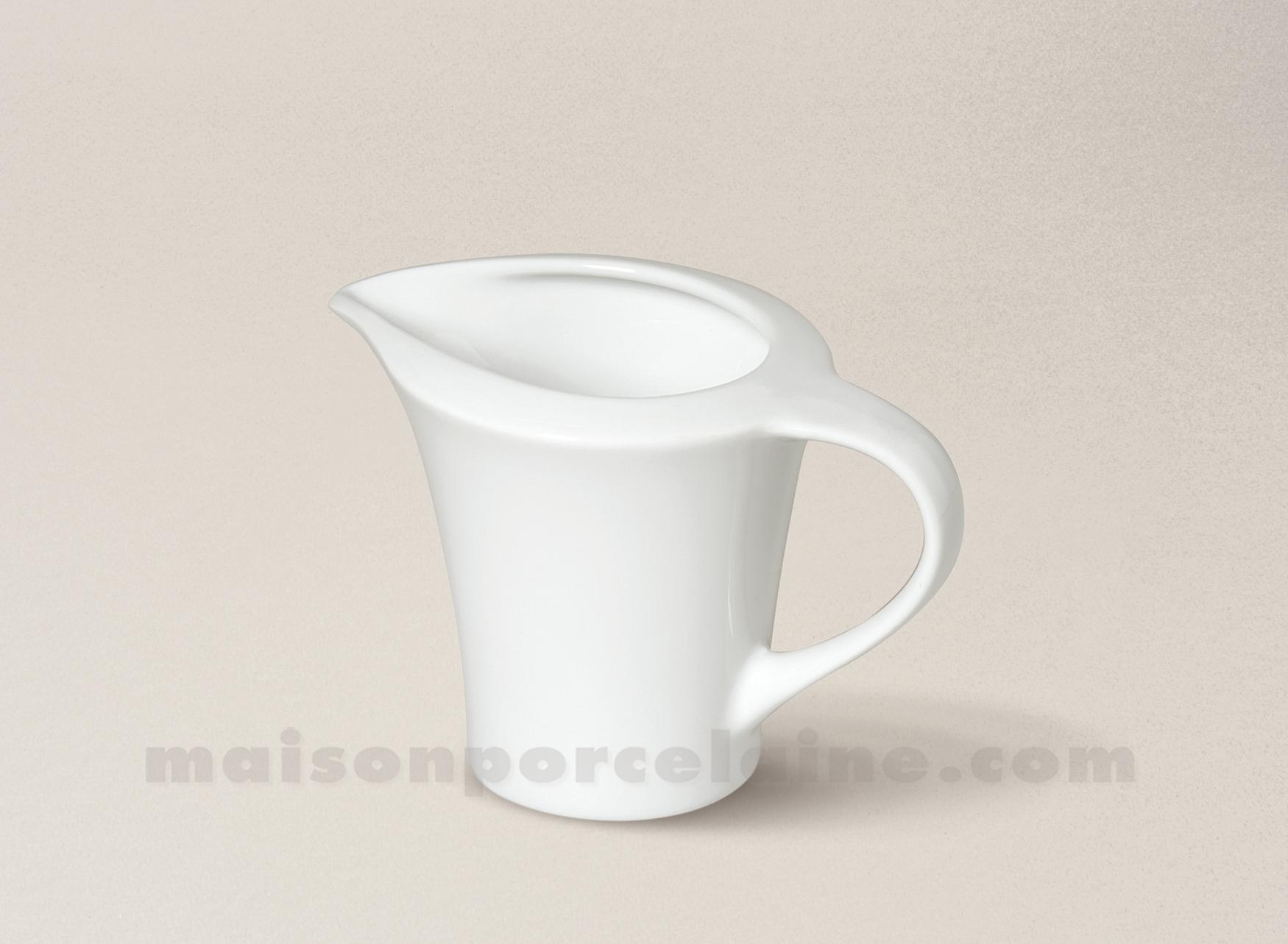 Cremier porcelaine blanche kosmos 13x8x9 23cl maison de for Maison de la porcelaine