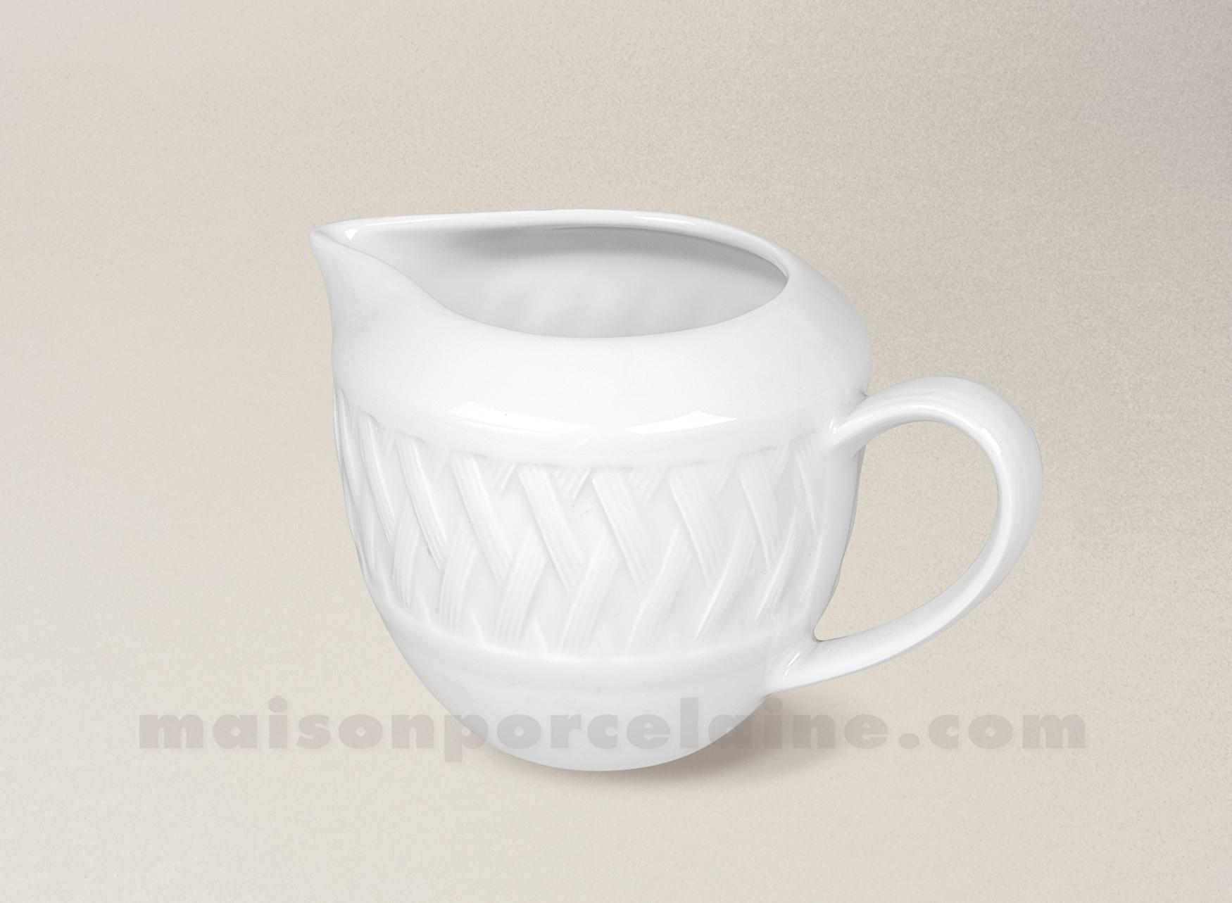 Cremier porcelaine blanche louisiane 35cl maison de la for Maison de la porcelaine
