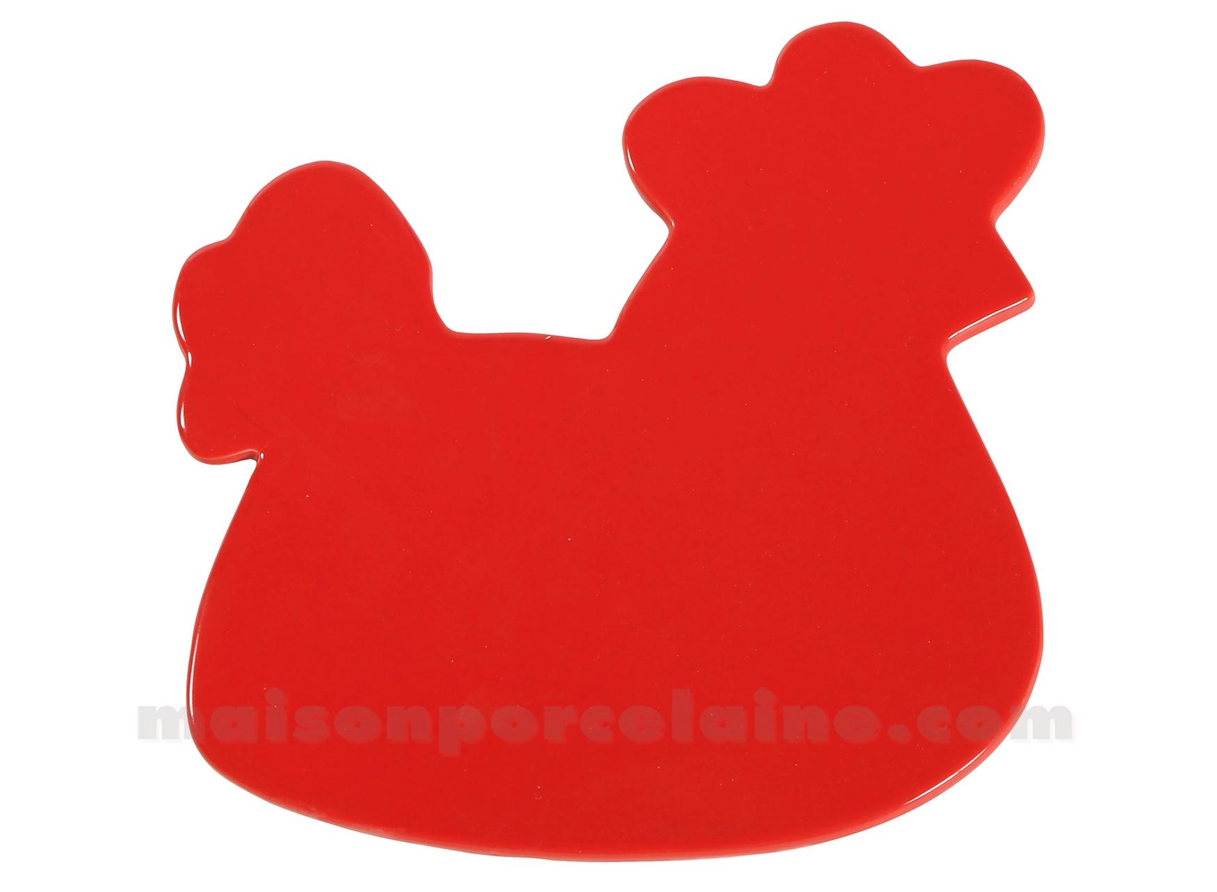 Dessous de plat poule rouge 19 5x18 5cm maison de la - La maison de la poule ...