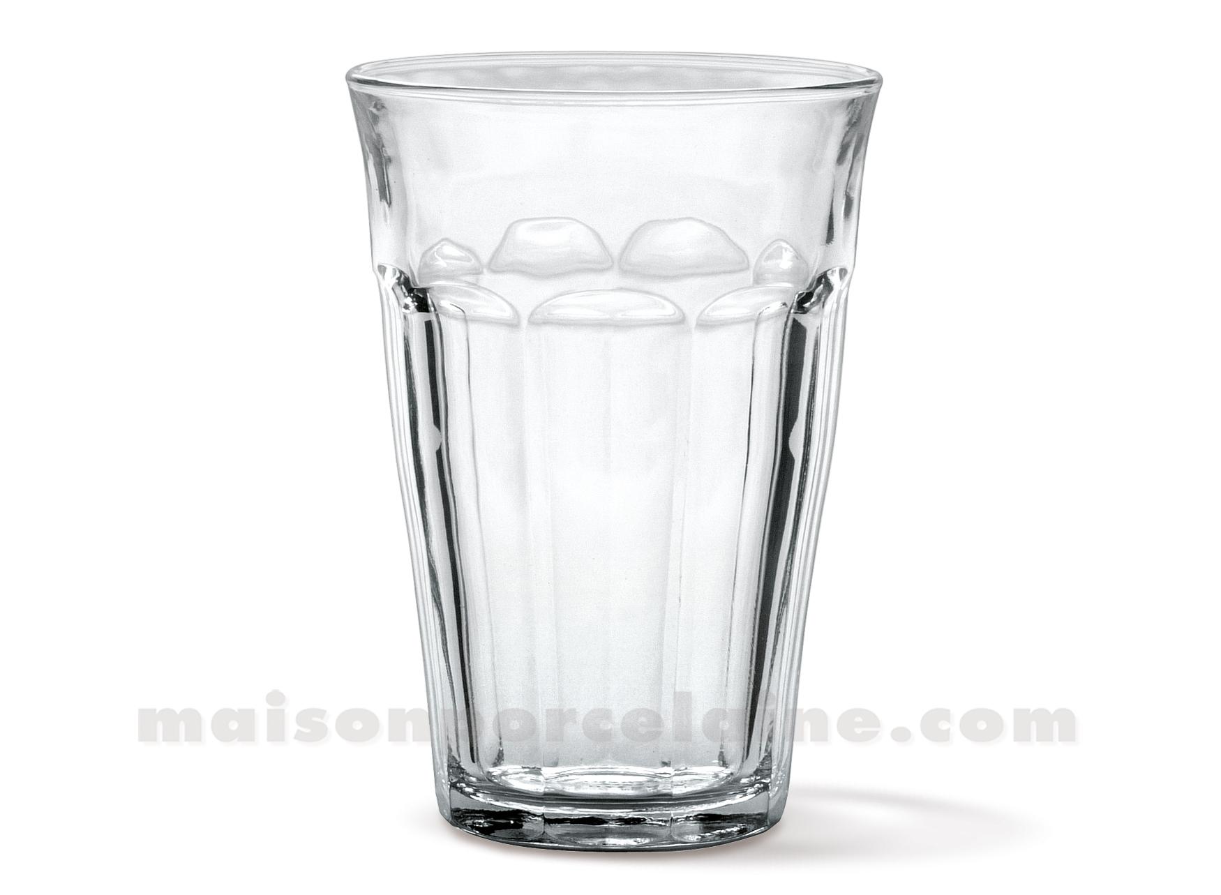 goblet duralex picardie 36cl verre trempe coffret de 6 maison de la porcelaine. Black Bedroom Furniture Sets. Home Design Ideas