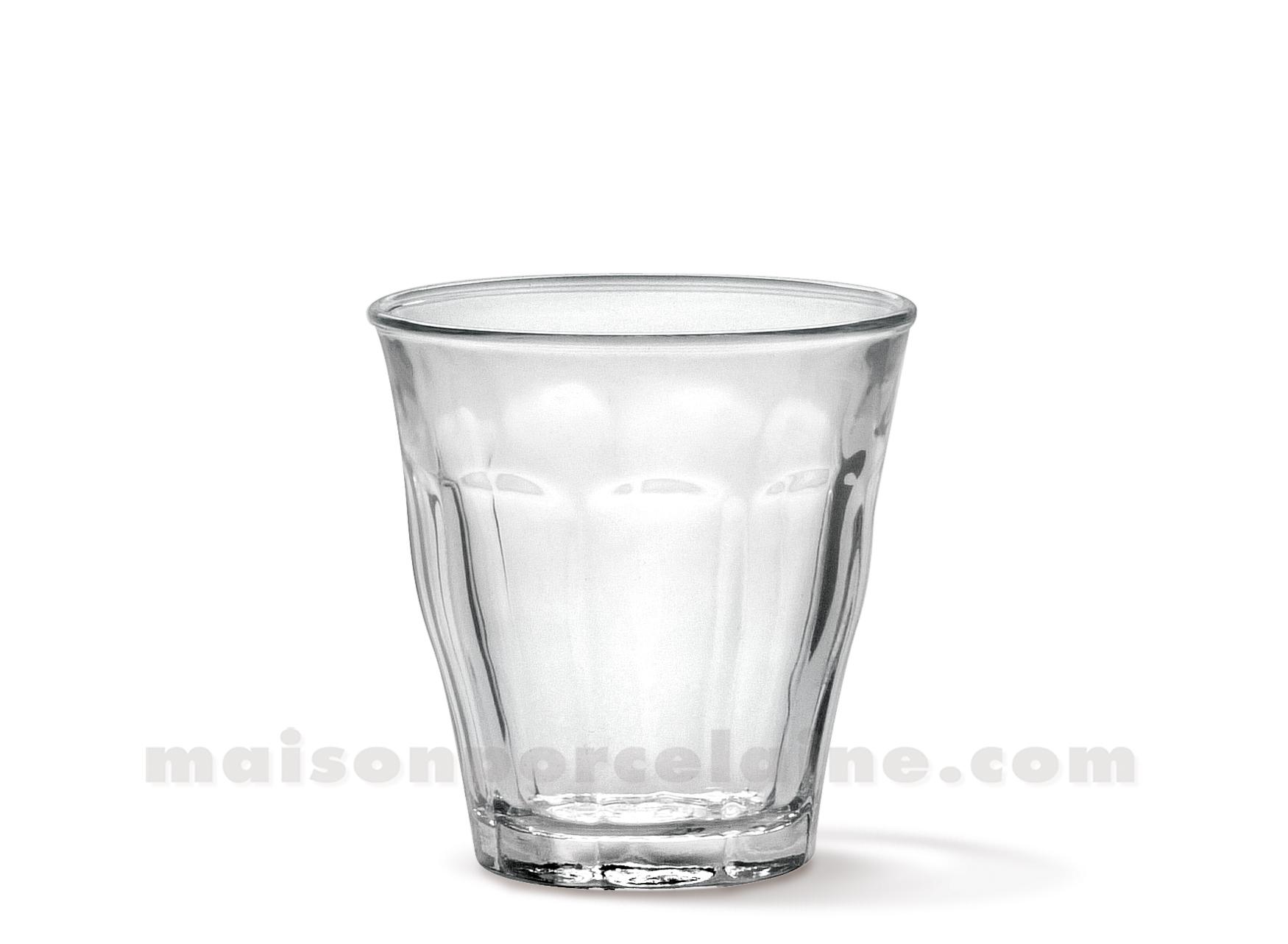 Goblet duralex picardie 9 cl verre trempe coffret de 6 maison de la por - Verre picardie duralex ...