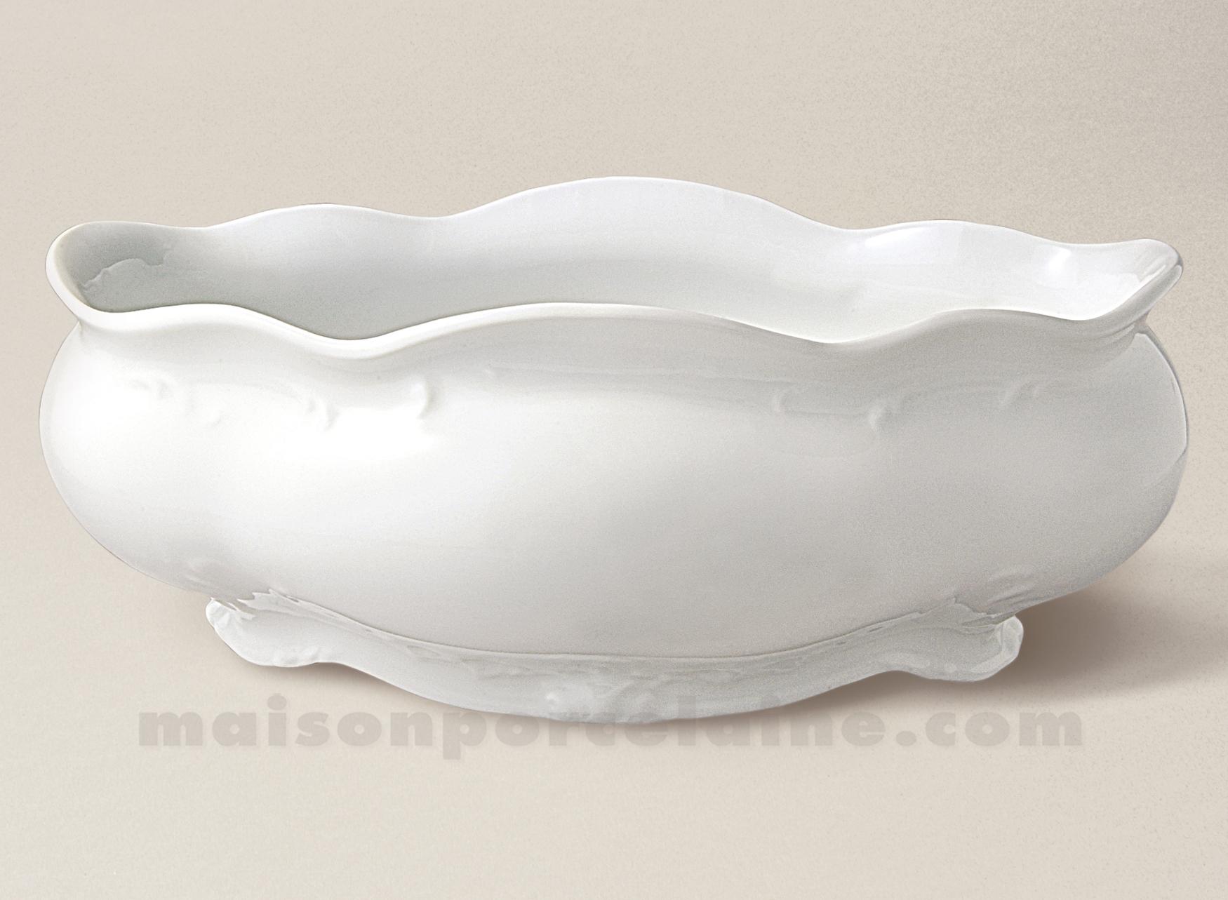 Jardiniere limoges porcelaine blanche william guerin x 32x22 maison de la p - La porcelaine blanche ...
