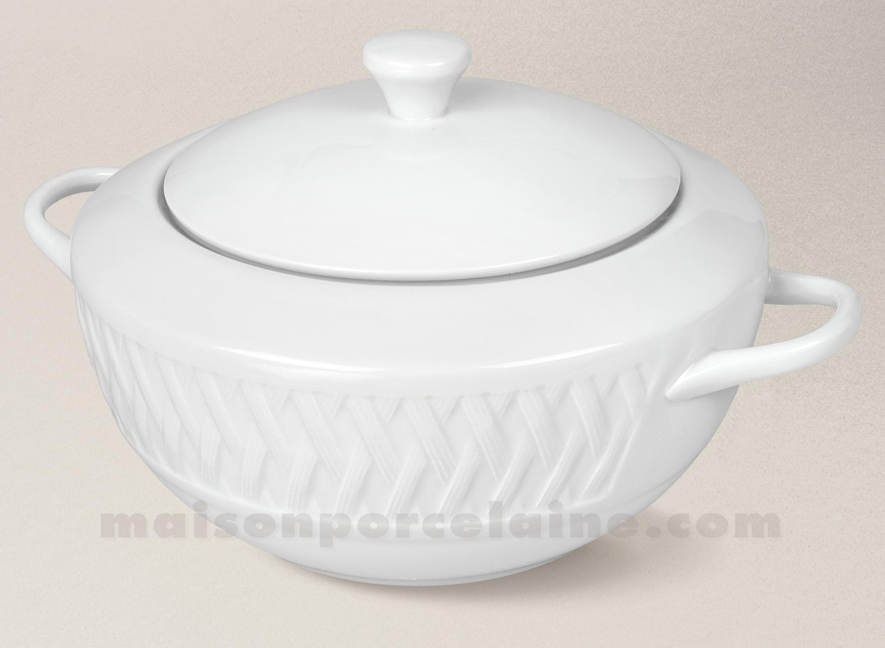 Legumier porcelaine blanche louisiane 27x22 2 5l maison de la porcelaine - La porcelaine blanche ...