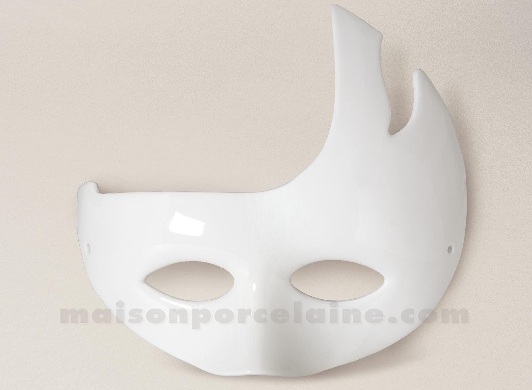 masque de carnaval porcelaine blanche a peindre 22 5x18 maison de la porcelaine. Black Bedroom Furniture Sets. Home Design Ideas