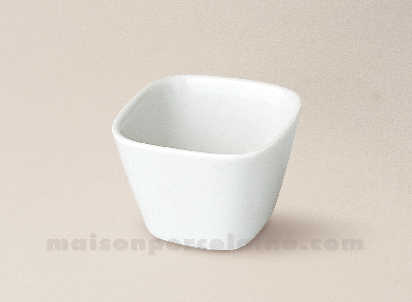 Mise en bouche porcelaine blanche bol carre 5 5x5 5 for Interieur de la bouche blanche