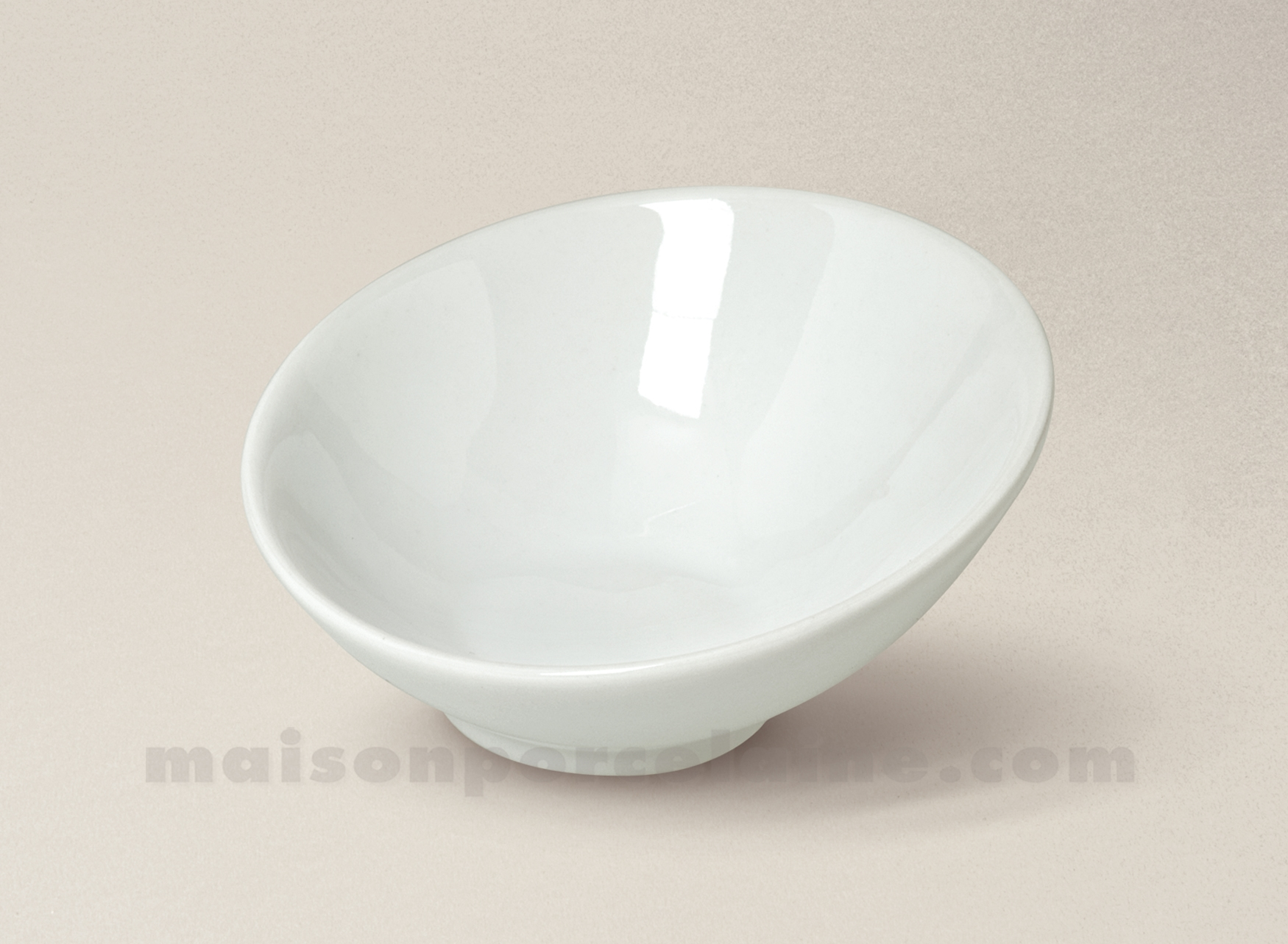 mise en bouche porcelaine blanche lounge 9 5x4 5 maison de la porcelaine. Black Bedroom Furniture Sets. Home Design Ideas