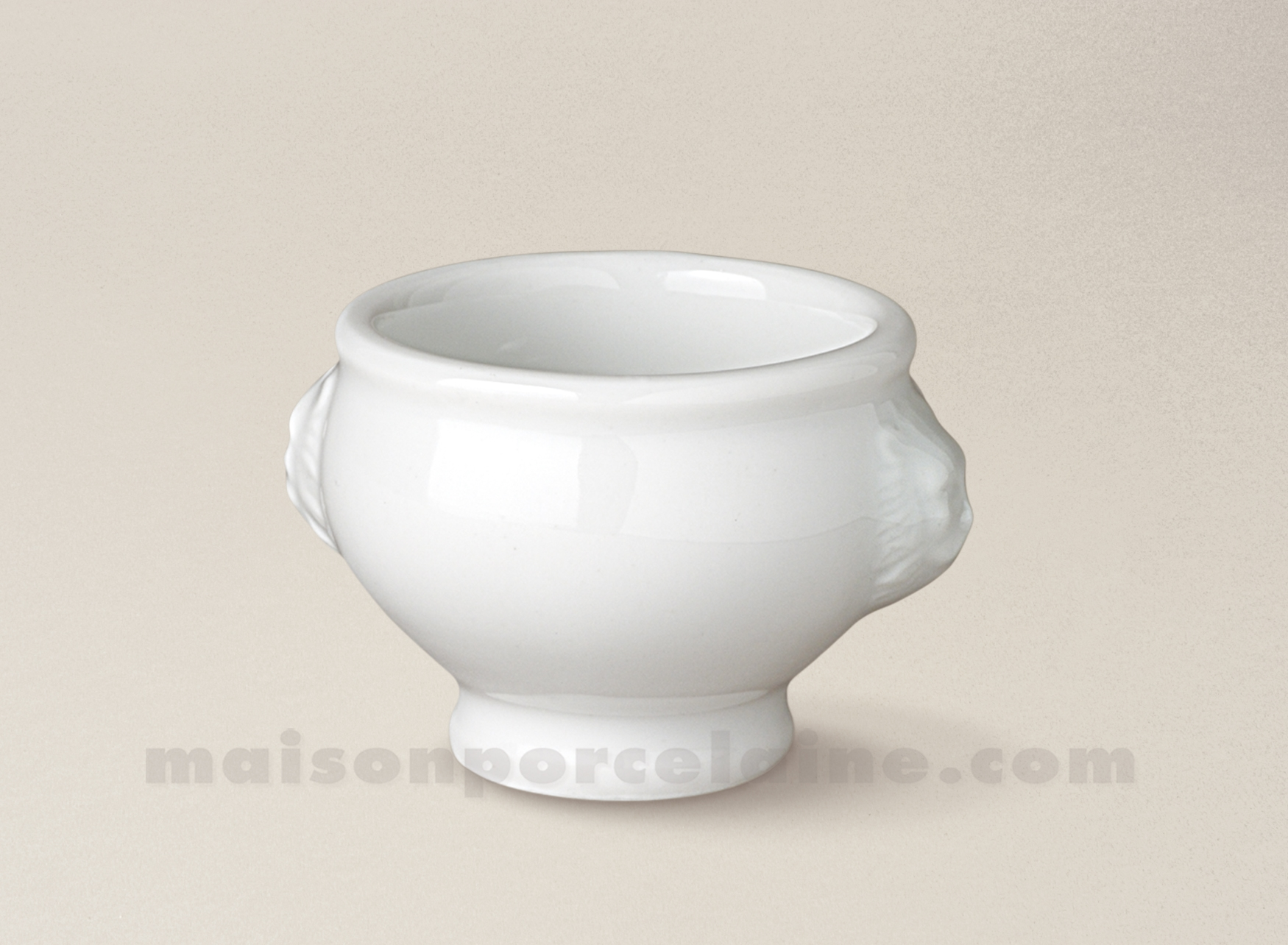 Mise en bouche porcelaine blanche tetes lion 7x6 6cl for Interieur de la bouche blanche
