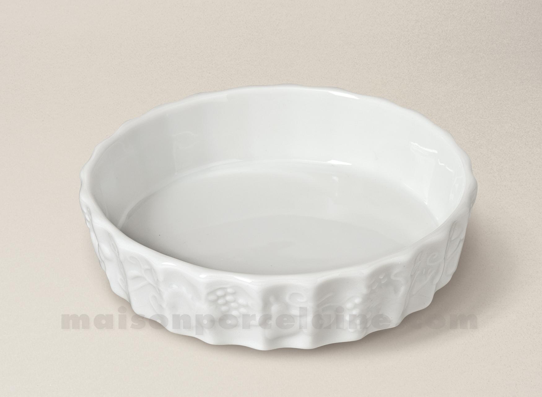 Moule A Tartelette Professionnel moule tarte california porcelaine blanche individuel d12