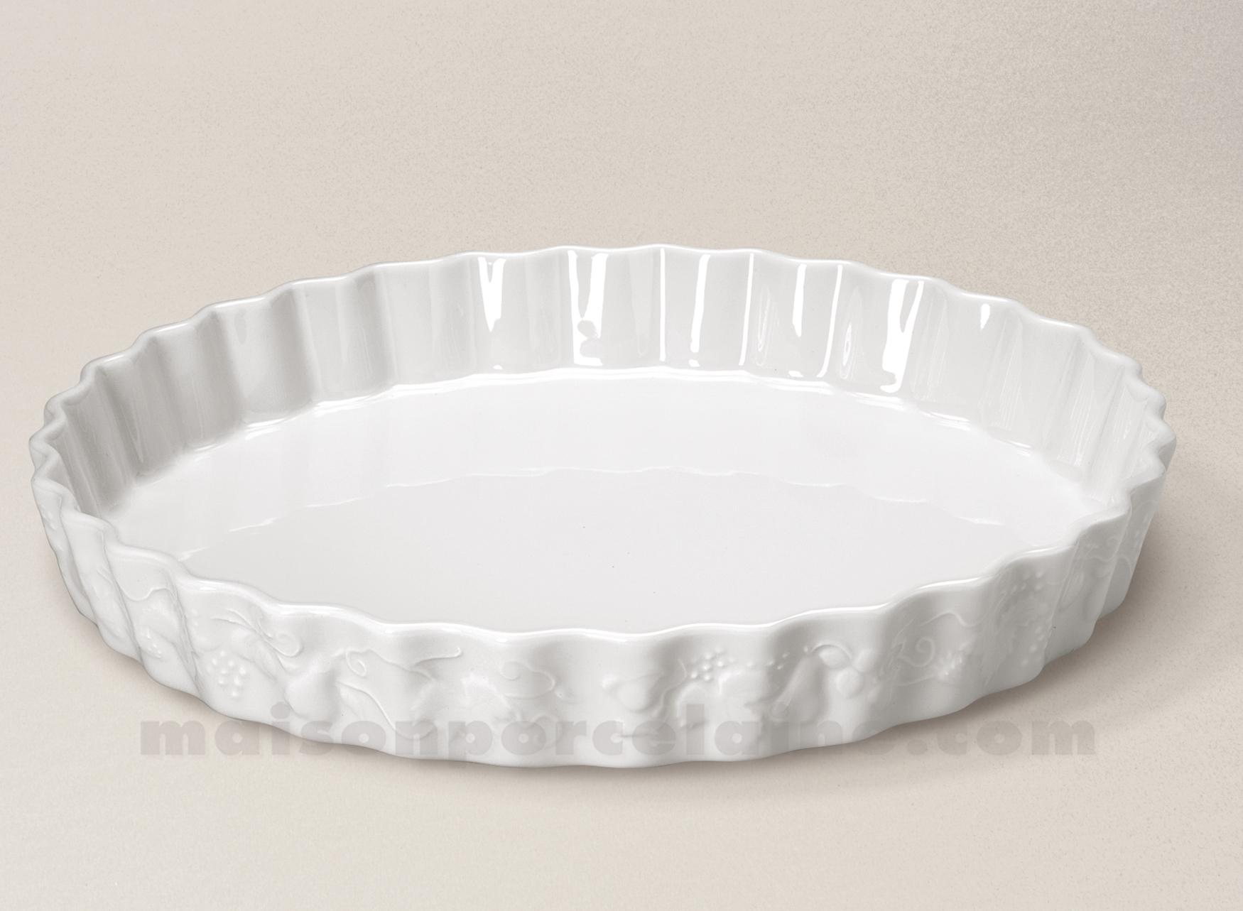 Moule A Tartelette Professionnel moule tarte california porcelaine blanche n°30 d31 - maison