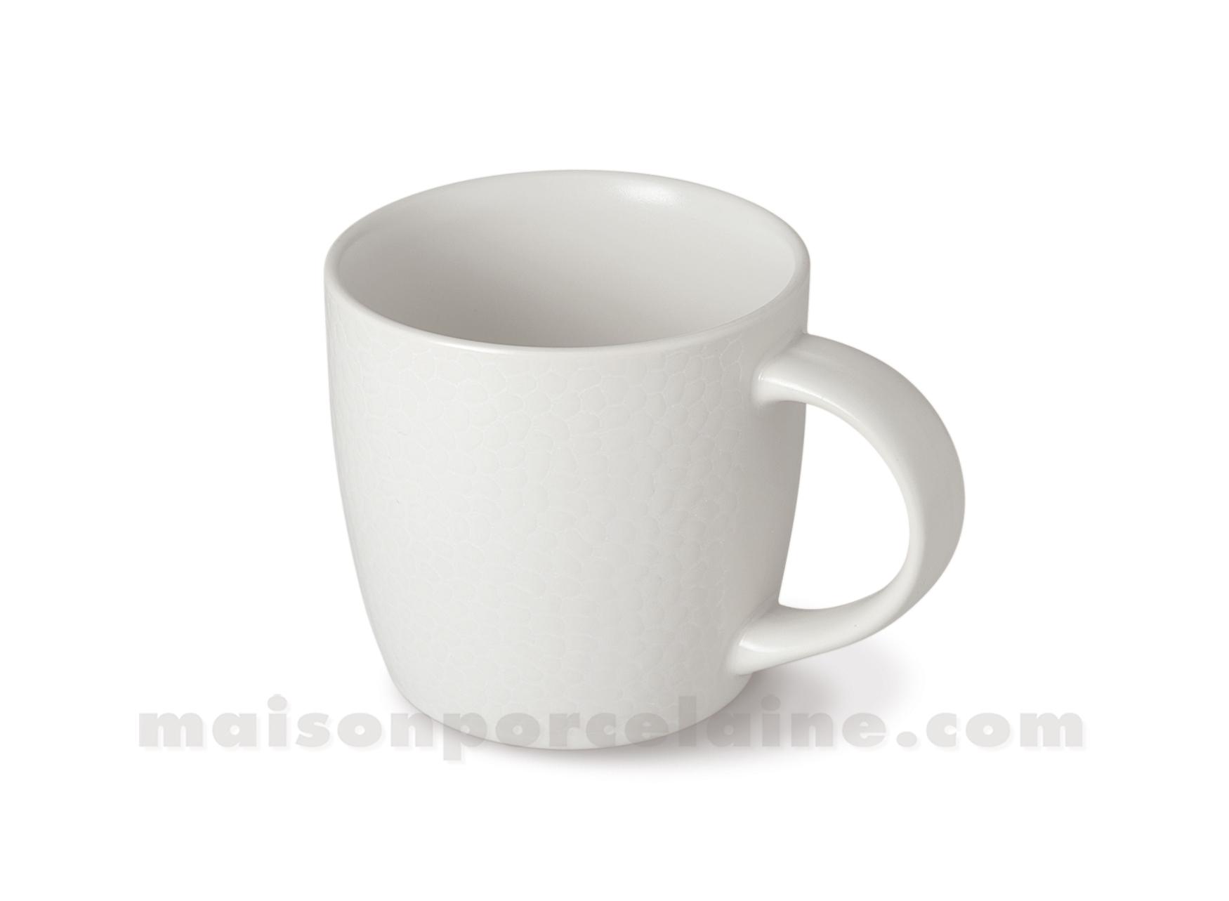 mug cafe the stone ivoire medard de noblat 28cl maison de la porcelaine. Black Bedroom Furniture Sets. Home Design Ideas