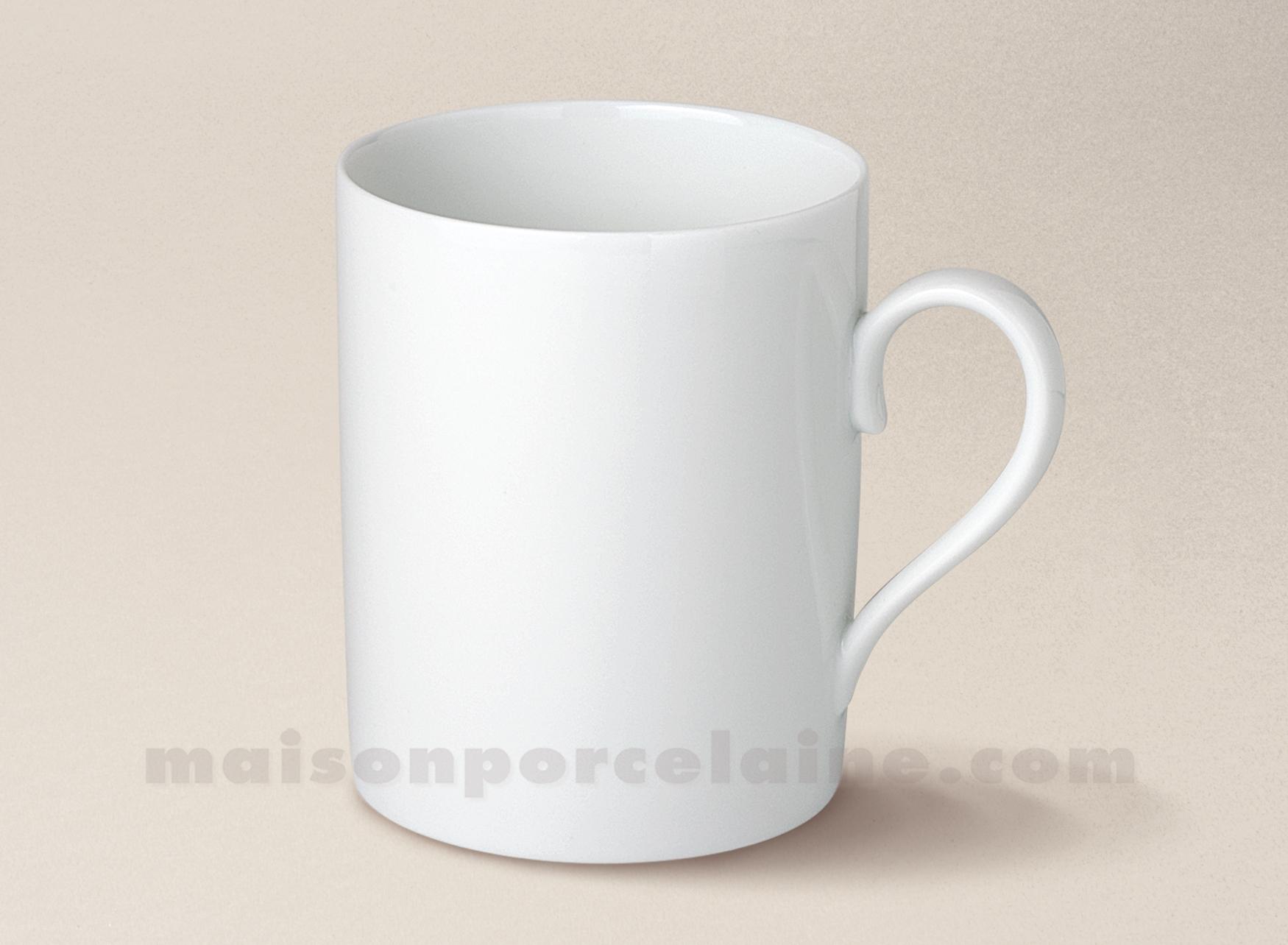 mug porcelaine blanche limoges mercure 11x8 30cl maison de la porcelaine. Black Bedroom Furniture Sets. Home Design Ideas