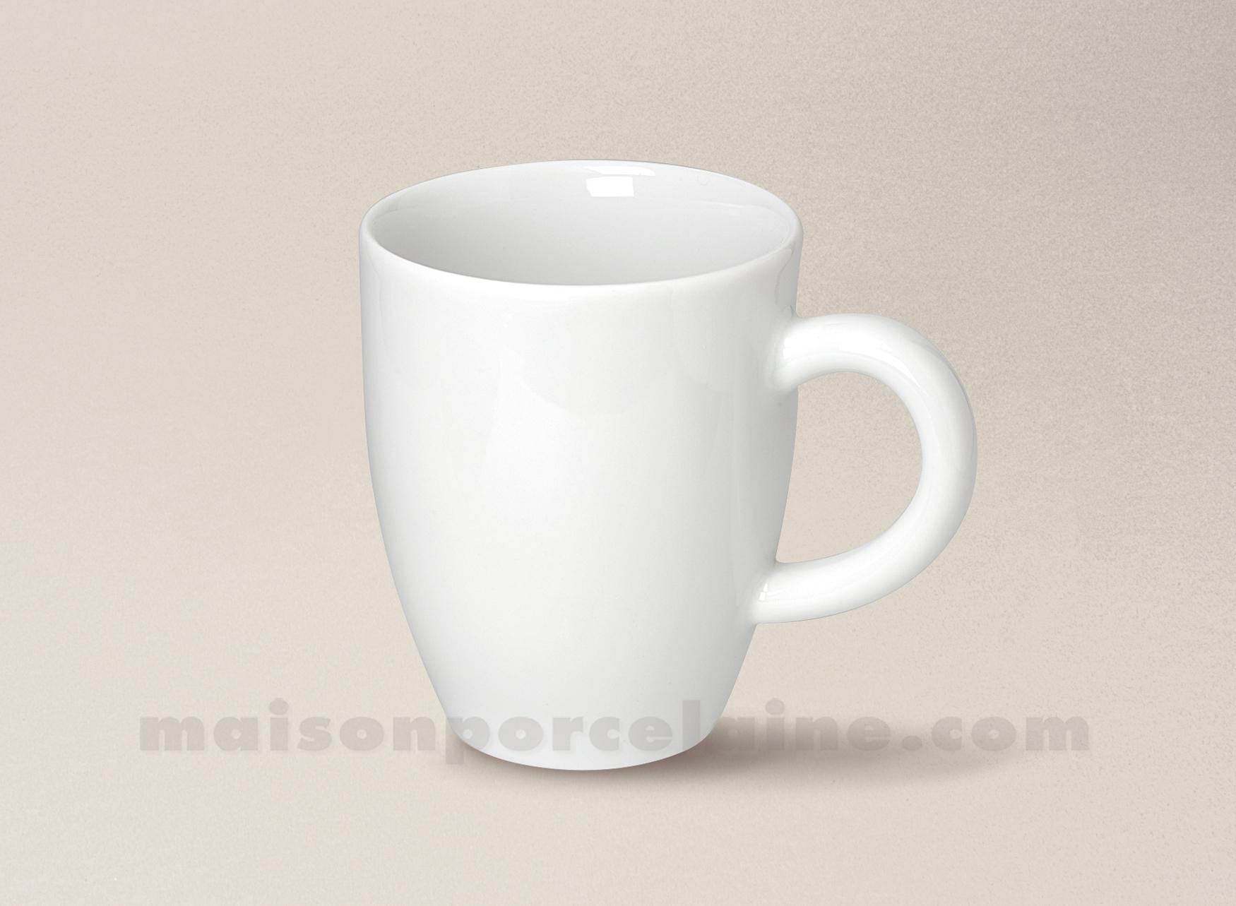 Mug porcelaine blanche ronda 35cl maison de la porcelaine for Maison de la porcelaine