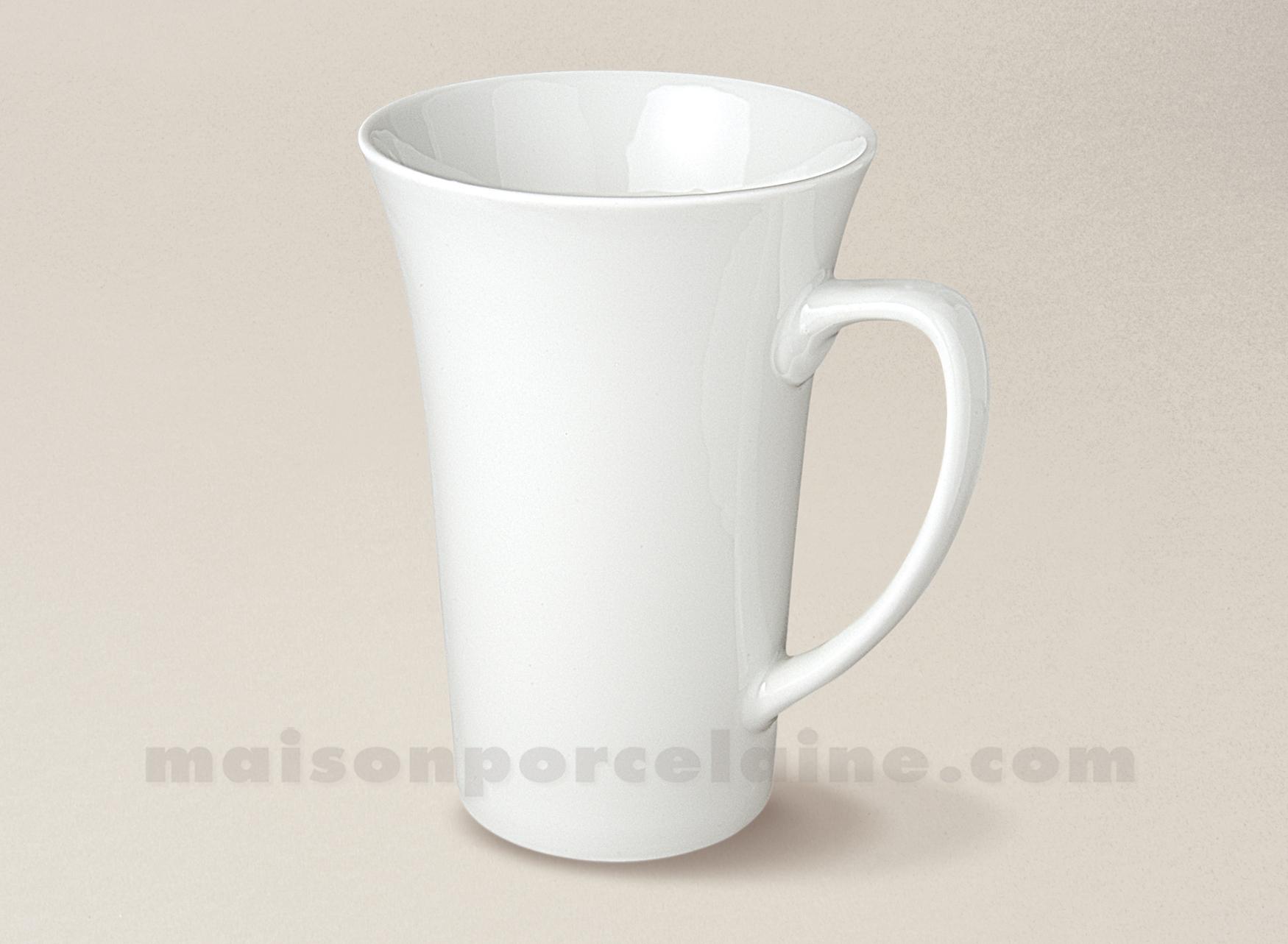 Mug porcelaine blanche trianon 35cl maison de la porcelaine - La maison de porcelaine ...