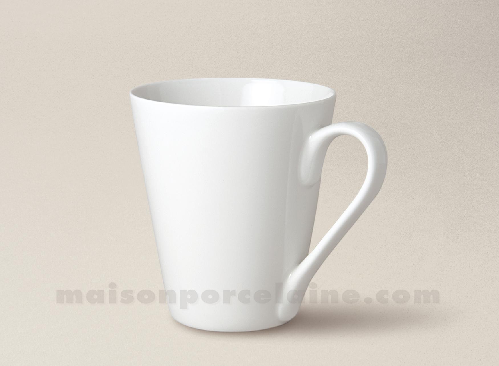 Mug porcelaine blanche uni conique 27clnique 27clnique 27cl maison de la po - La porcelaine blanche ...