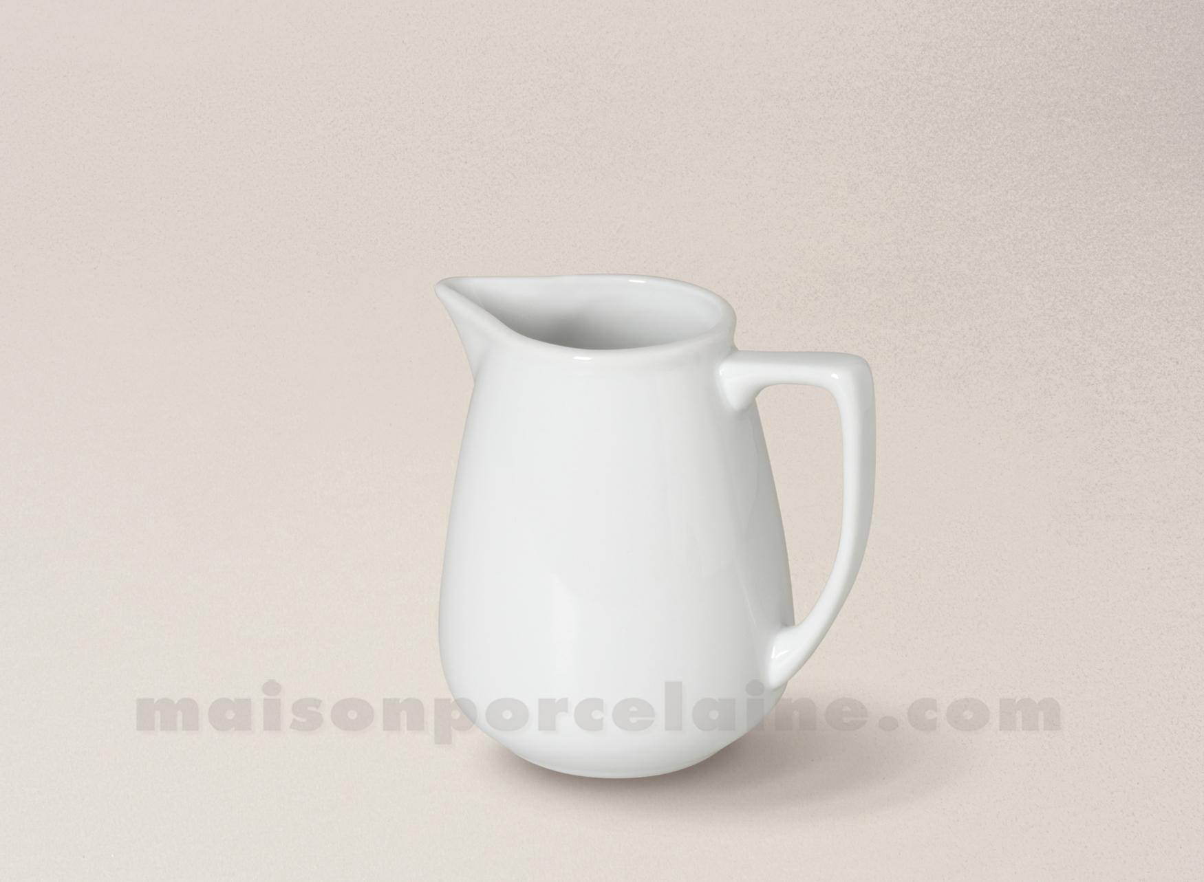 Pichet porcelaine blanche sologne h9cm 24cl maison de la for Maison de la porcelaine