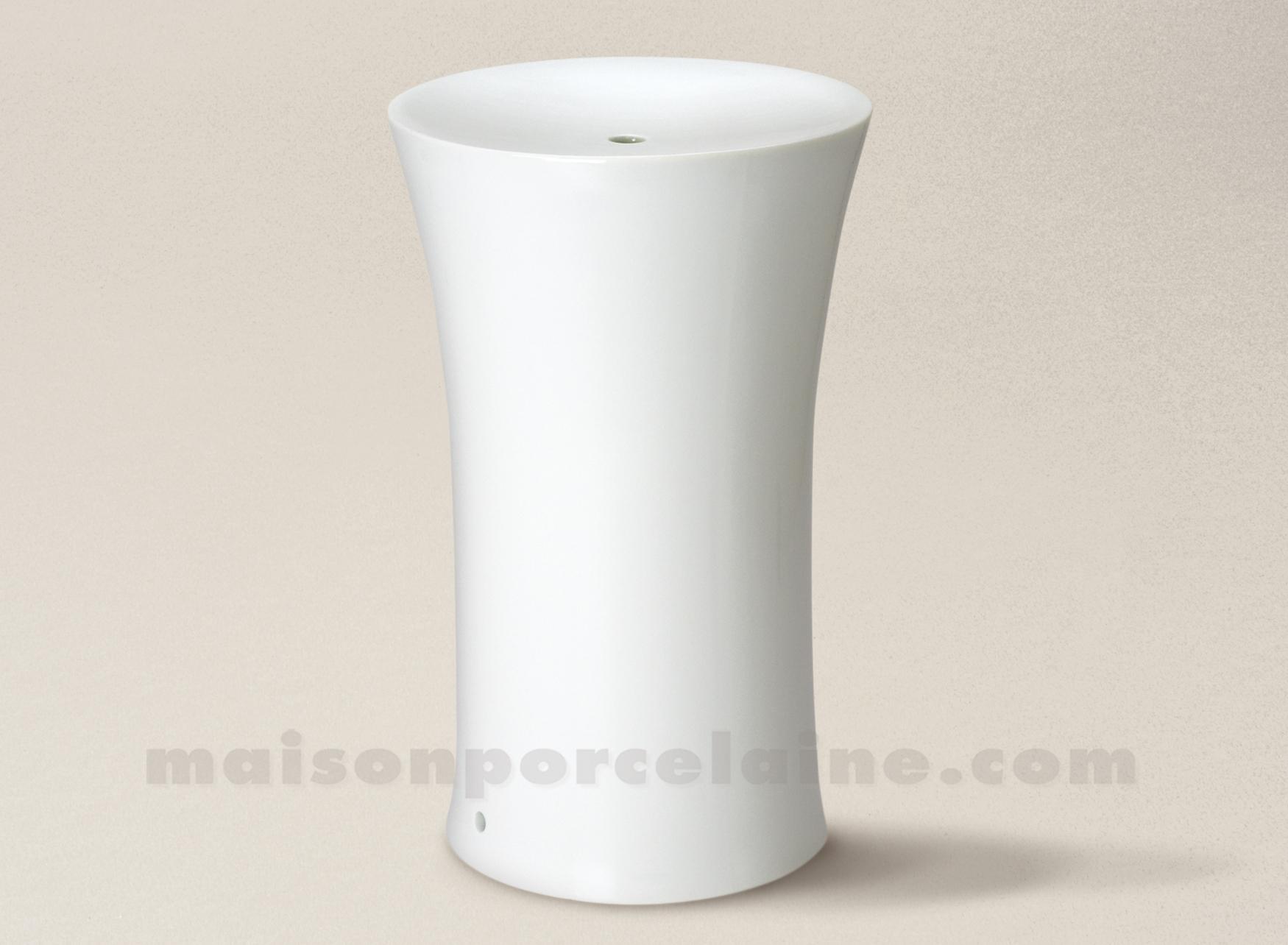 pied de lampe limoges porcelaine blanche cristal 29x18. Black Bedroom Furniture Sets. Home Design Ideas