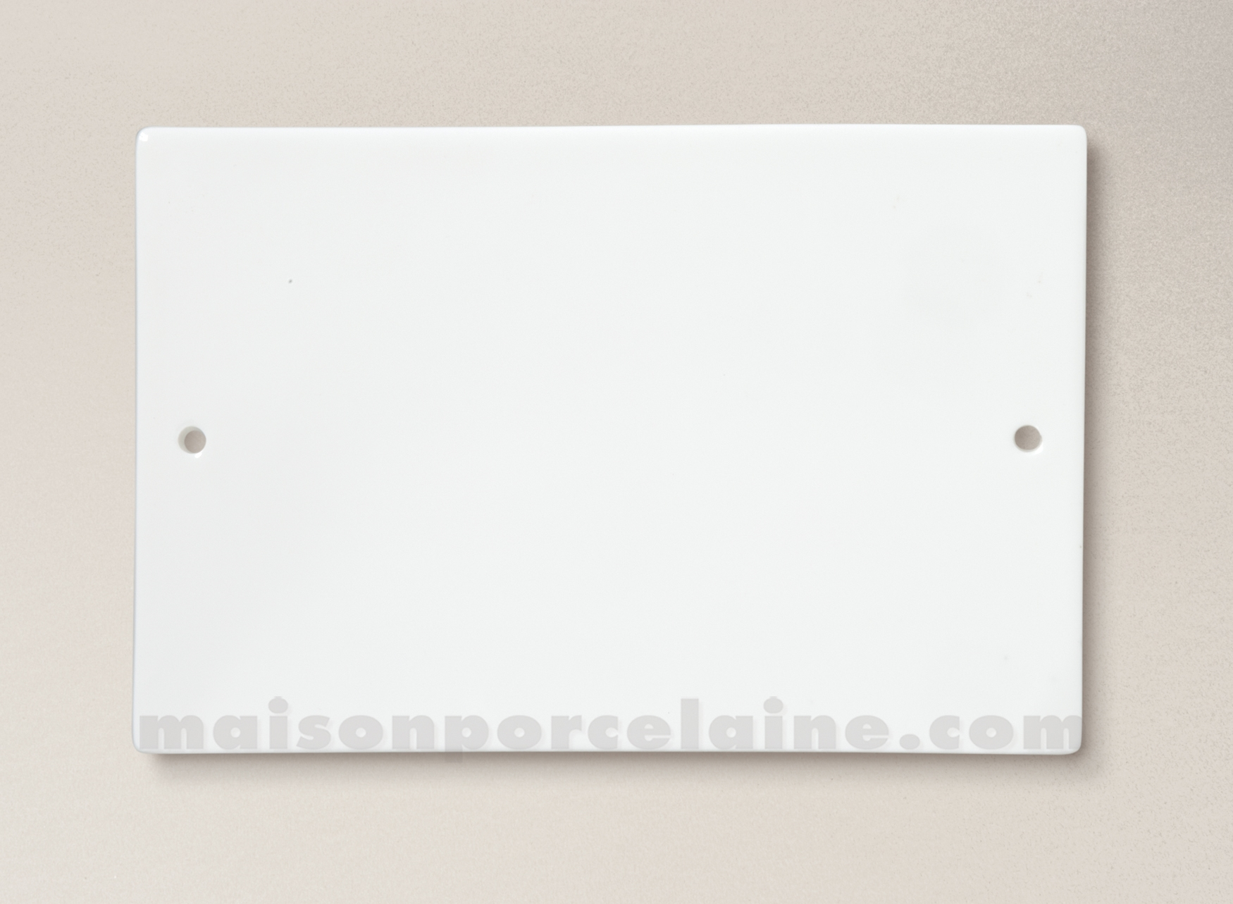 Plaque rectangle percee porcelaine blanche for Maison a peindre