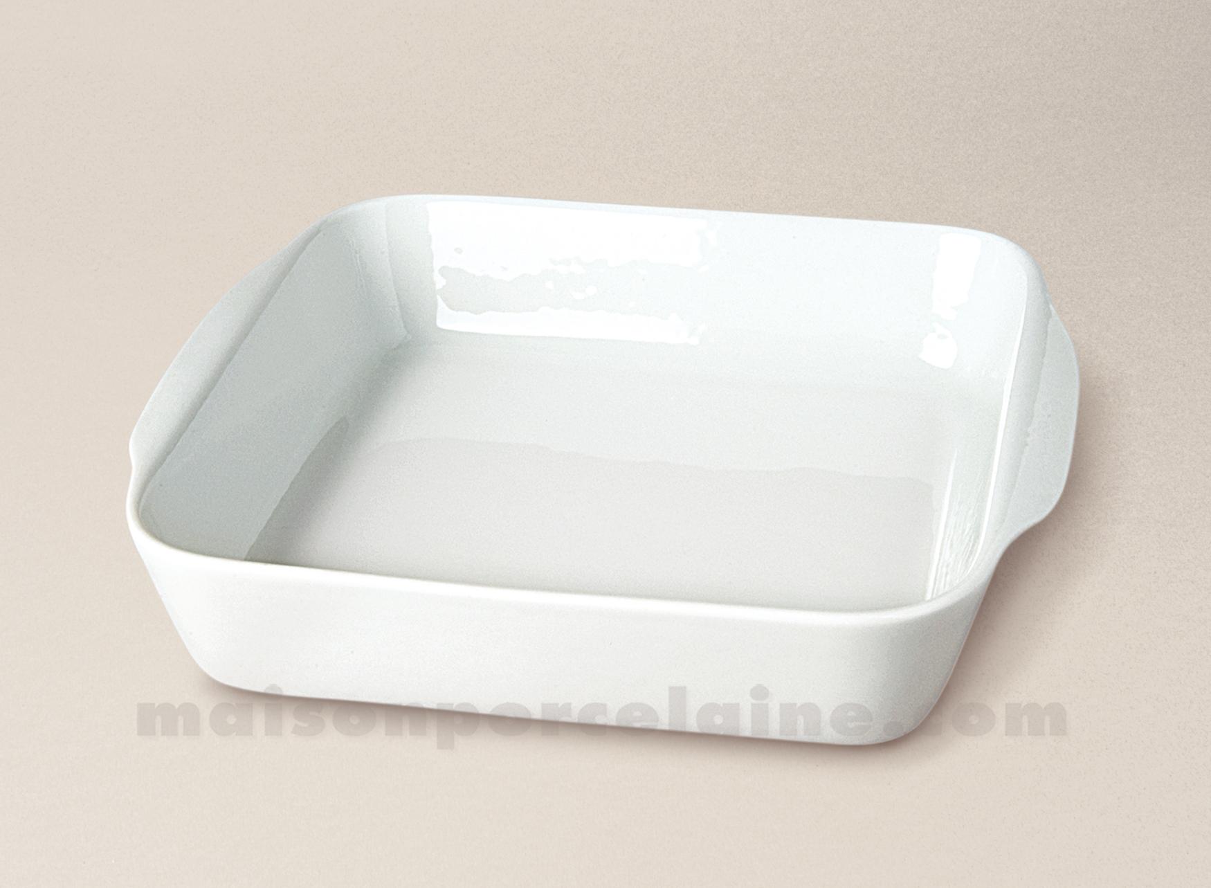 plat a four rotir carre porcelaine blanche 25x22 maison. Black Bedroom Furniture Sets. Home Design Ideas