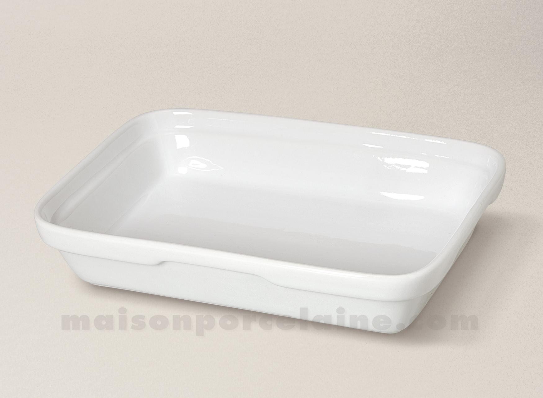 plat four rectangulaire empilable porcelaine blanche chr. Black Bedroom Furniture Sets. Home Design Ideas
