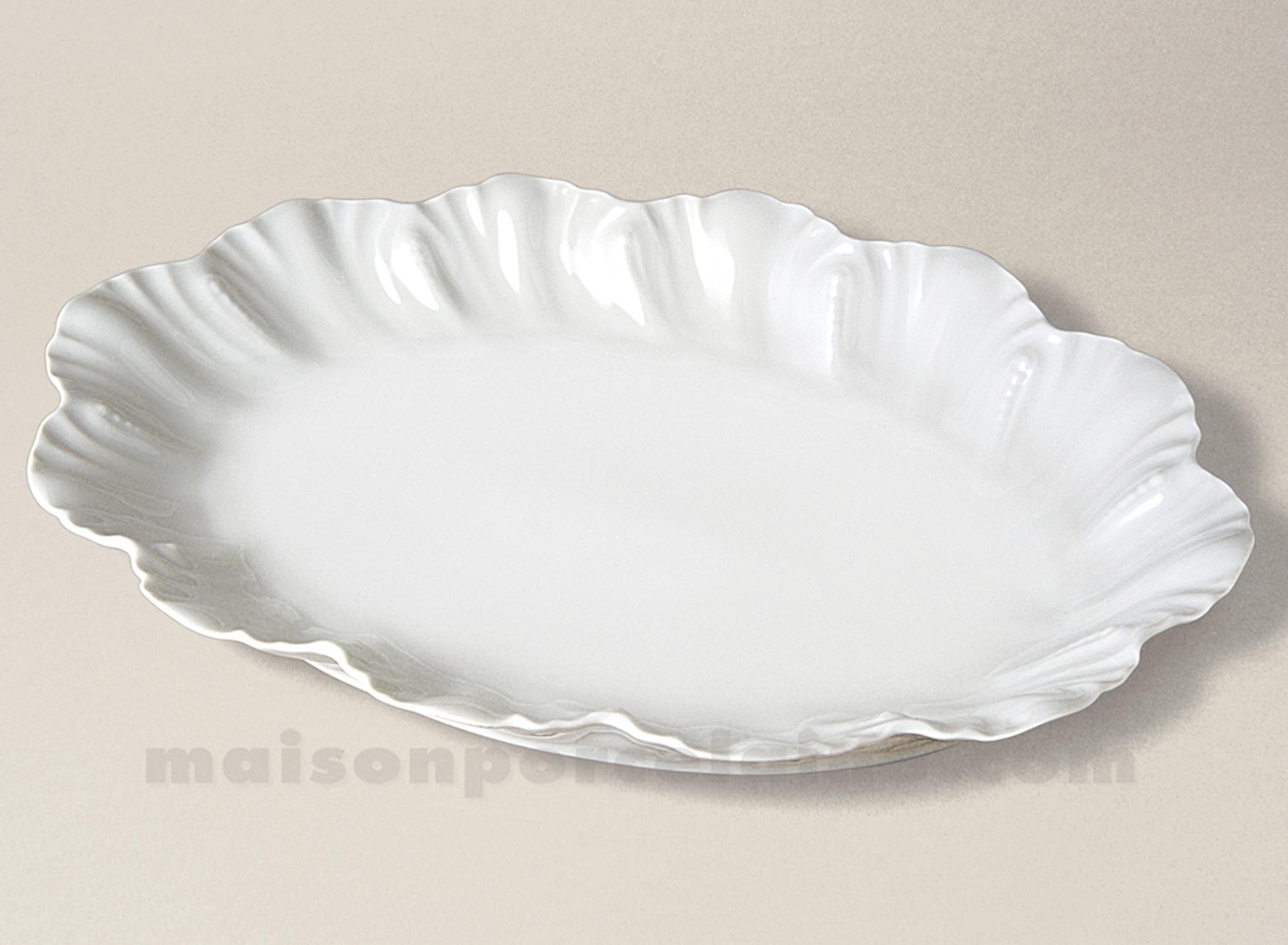 Plat ovale porcelaine blanche table de cuisine - La porcelaine blanche ...