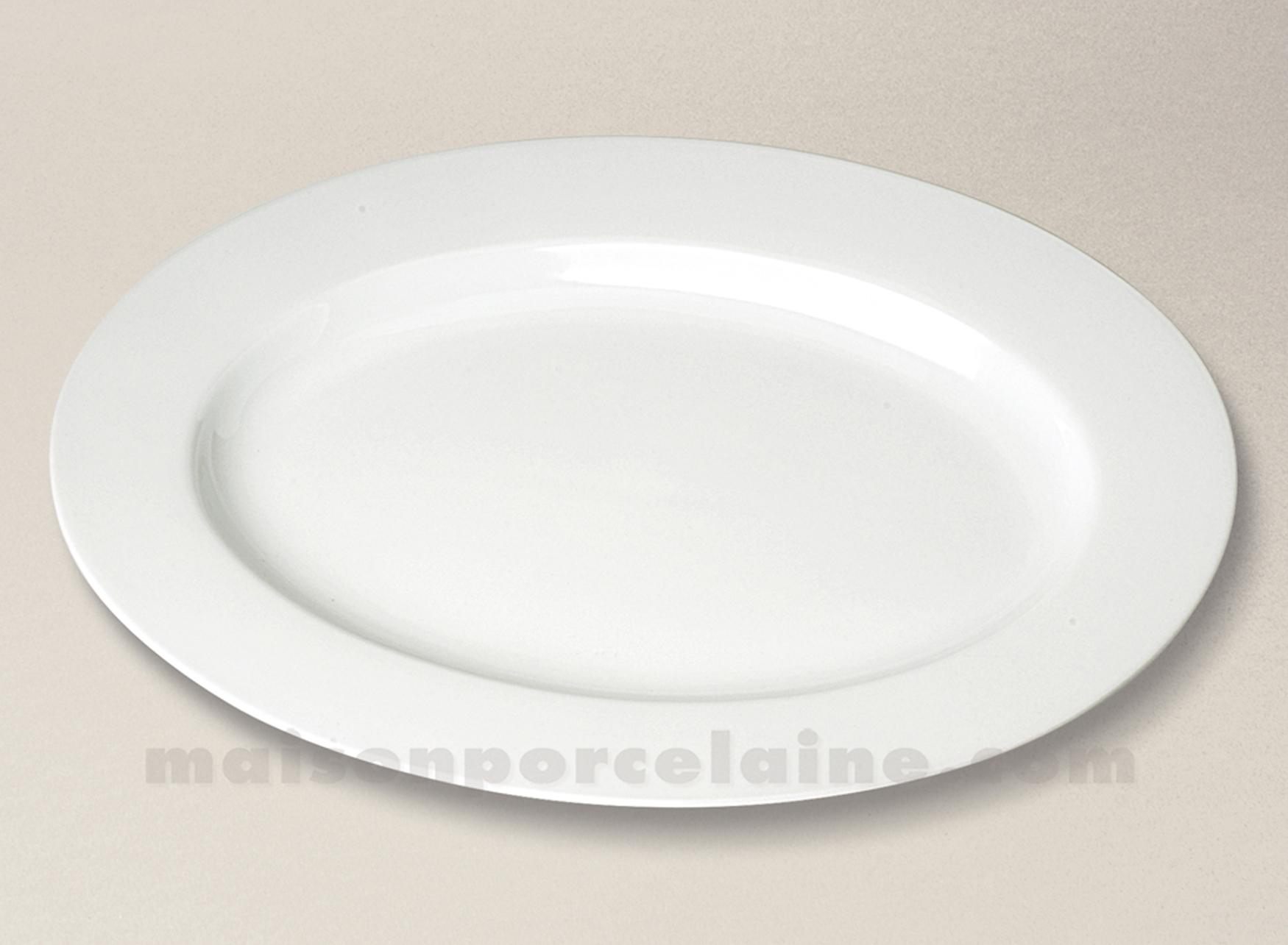 plat ovale porcelaine blanche aile sologne 39x28 maison de la porcelaine. Black Bedroom Furniture Sets. Home Design Ideas