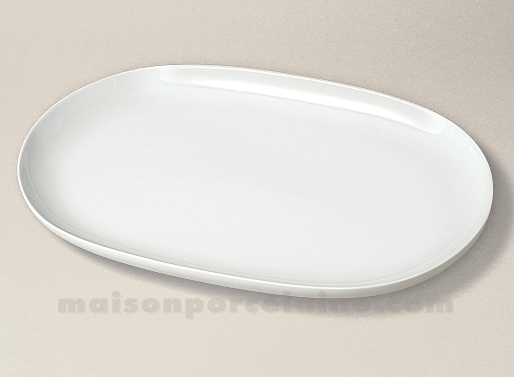Plat ovale porcelaine blanche flandre 39x24 maison de la for Maison de la porcelaine