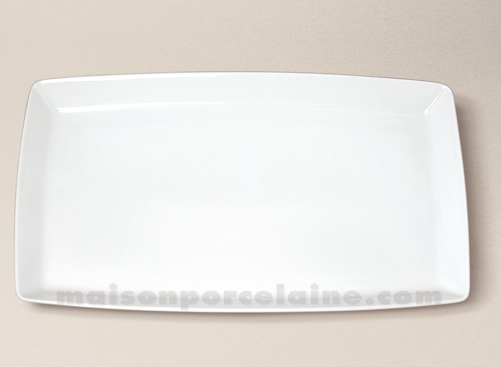 Plat ovale porcelaine blanche trendy 34x20 5 maison de la porcelaine - La porcelaine blanche ...