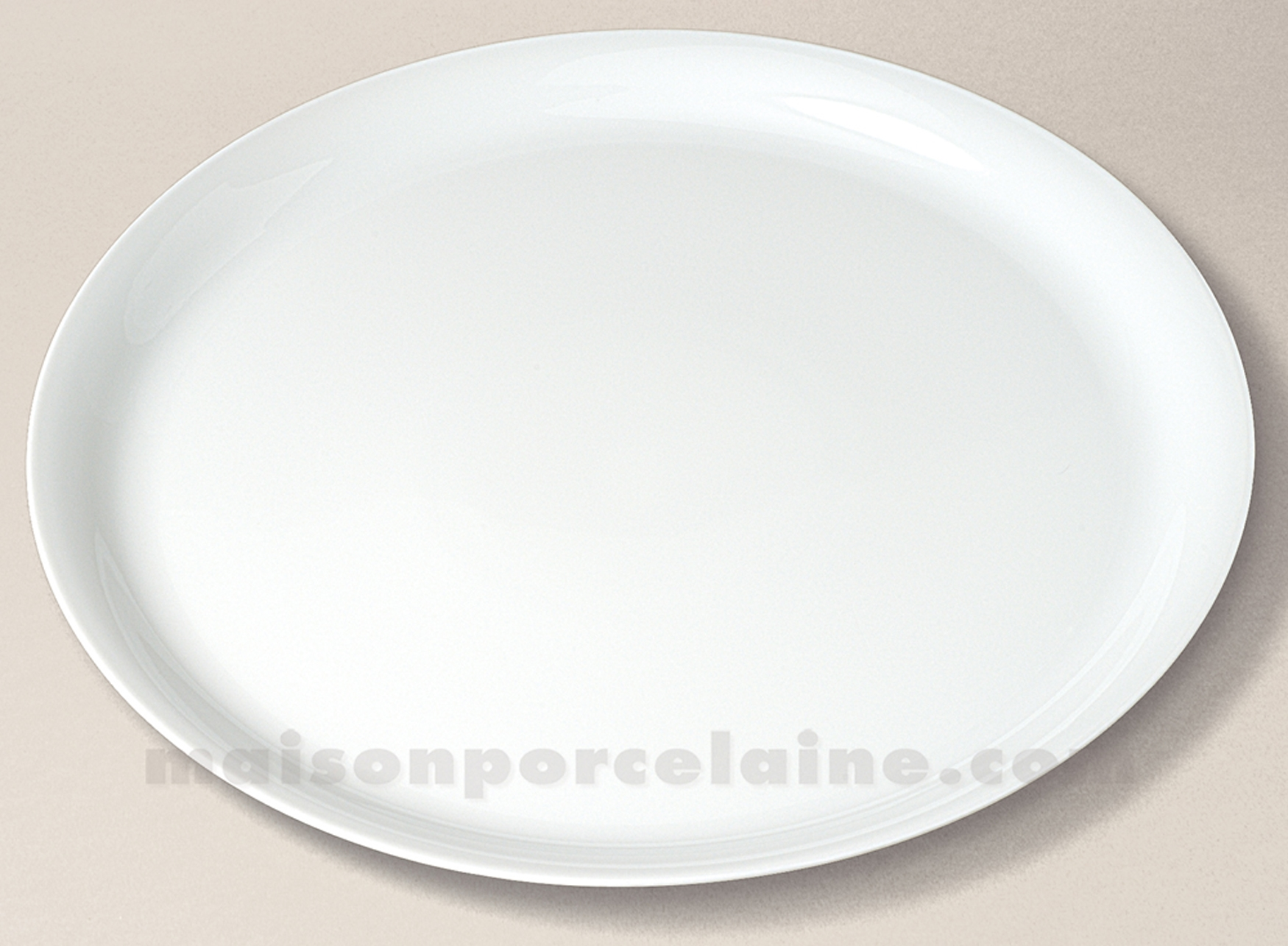 Plat tarte limoges porcelaine blanche haussmann d32 - La maison de porcelaine ...