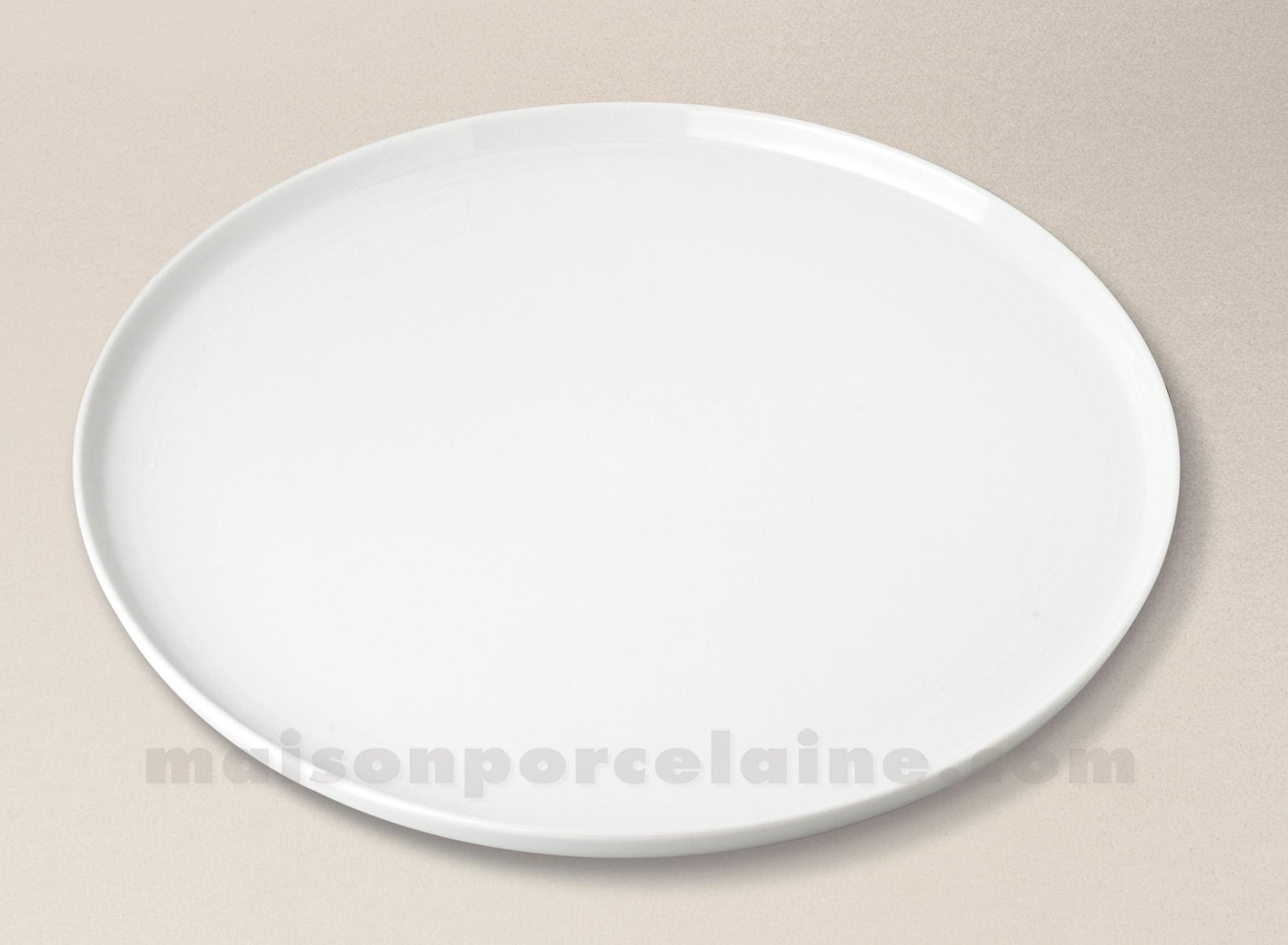 Plat tarte porcelaine blanche bistro d33 maison de la for Maison de la porcelaine