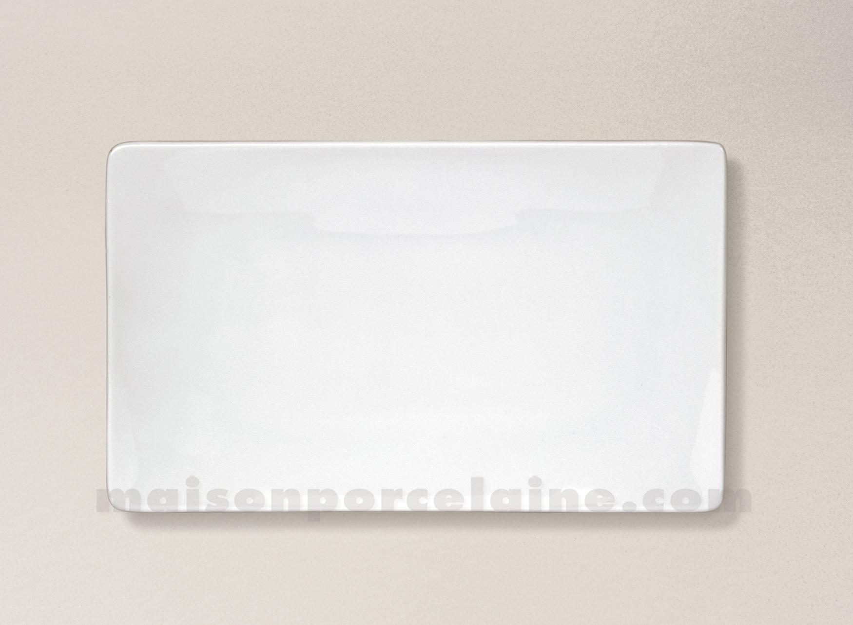 plat assiette rectangulaire porcelaine blanche colorado 23x14cm maison de la porcelaine. Black Bedroom Furniture Sets. Home Design Ideas