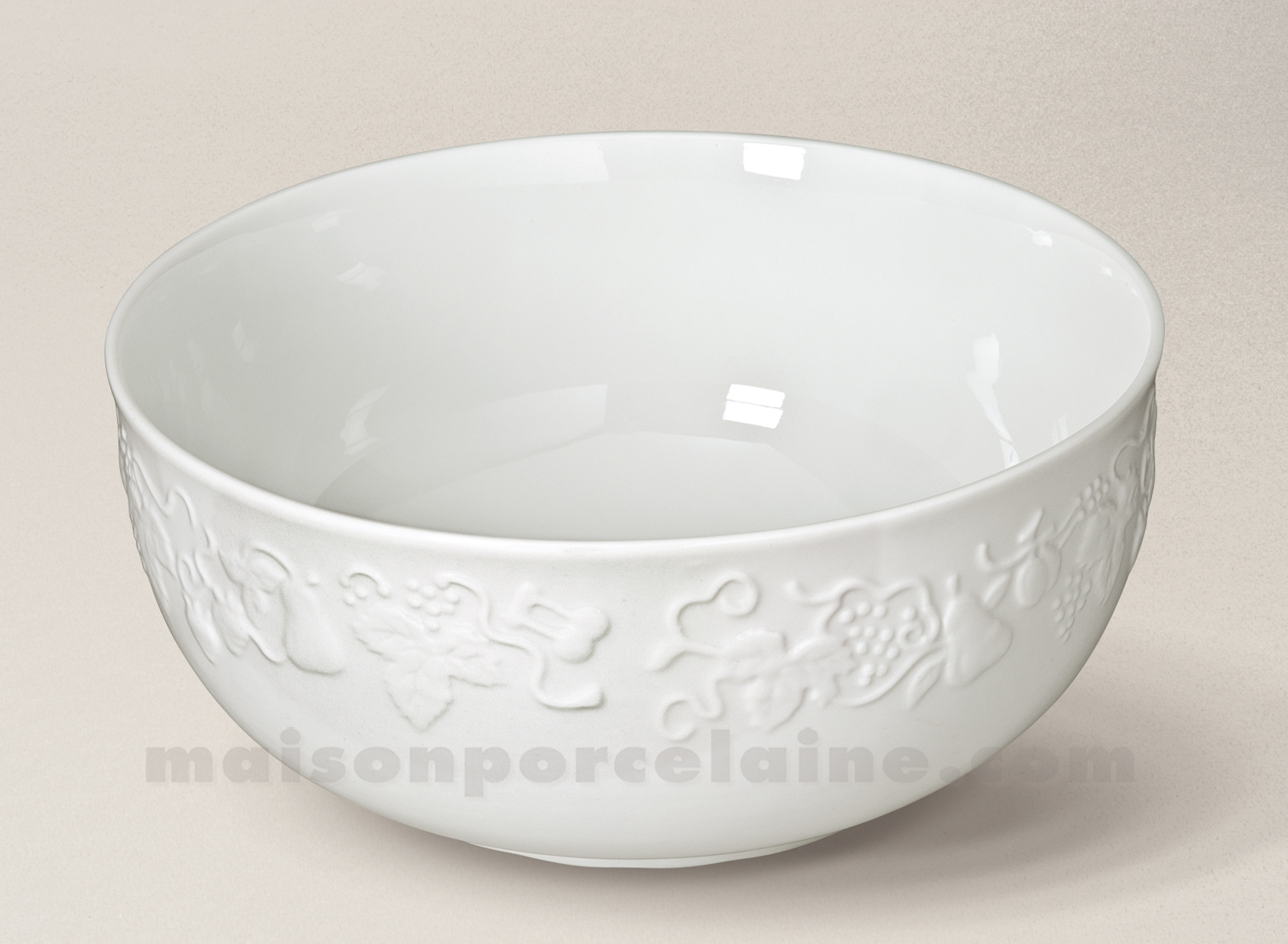 Blanch services white gold - Saladier porcelaine blanche ...