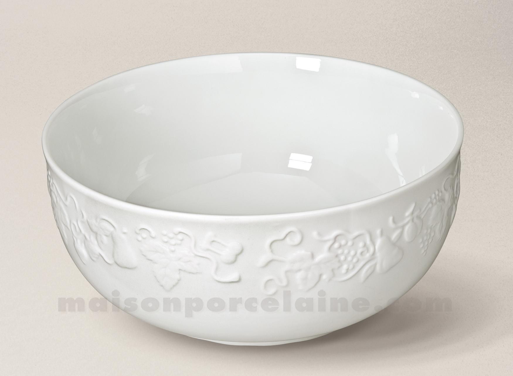 saladier california limoges porcelaine blanche service d24 maison de la porcelaine. Black Bedroom Furniture Sets. Home Design Ideas