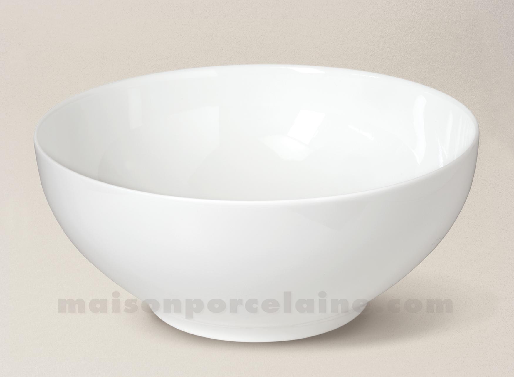 Saladier limoges porcelaine blanche empire d25 maison de - Saladier porcelaine blanche ...
