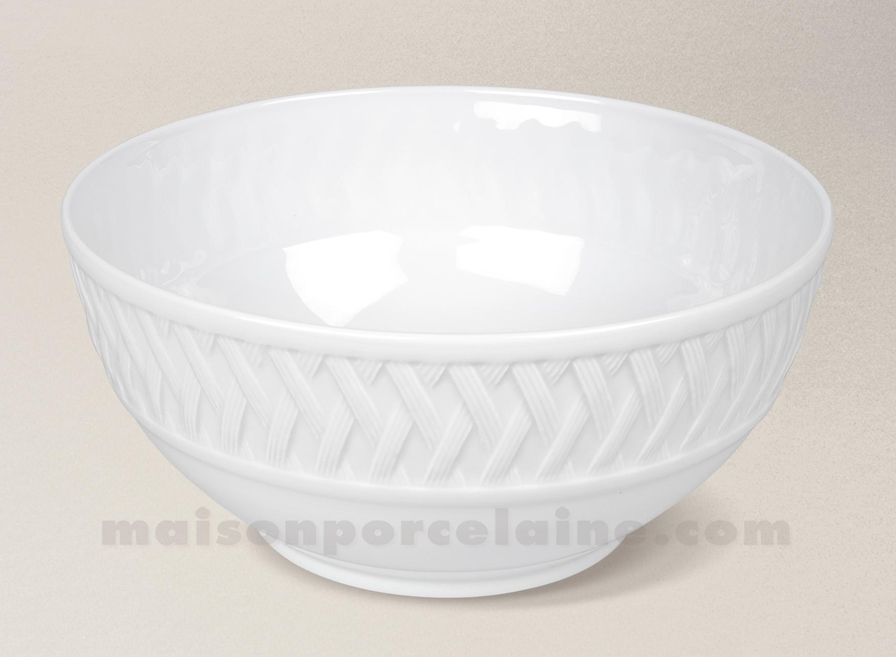 saladier limoges porcelaine blanche louisiane service d22 maison de la porcelaine. Black Bedroom Furniture Sets. Home Design Ideas