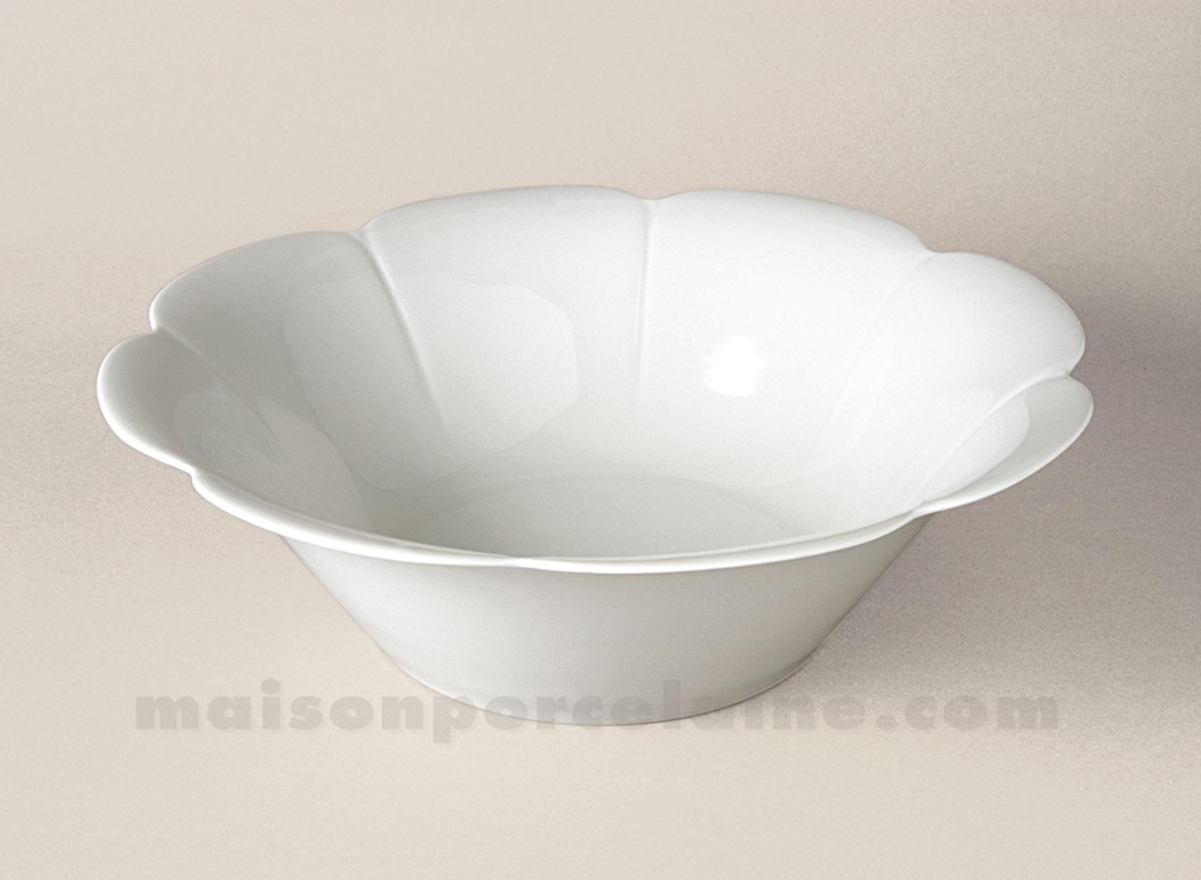 saladier limoges porcelaine blanche nymphea gm d28 maison de la porcelaine. Black Bedroom Furniture Sets. Home Design Ideas