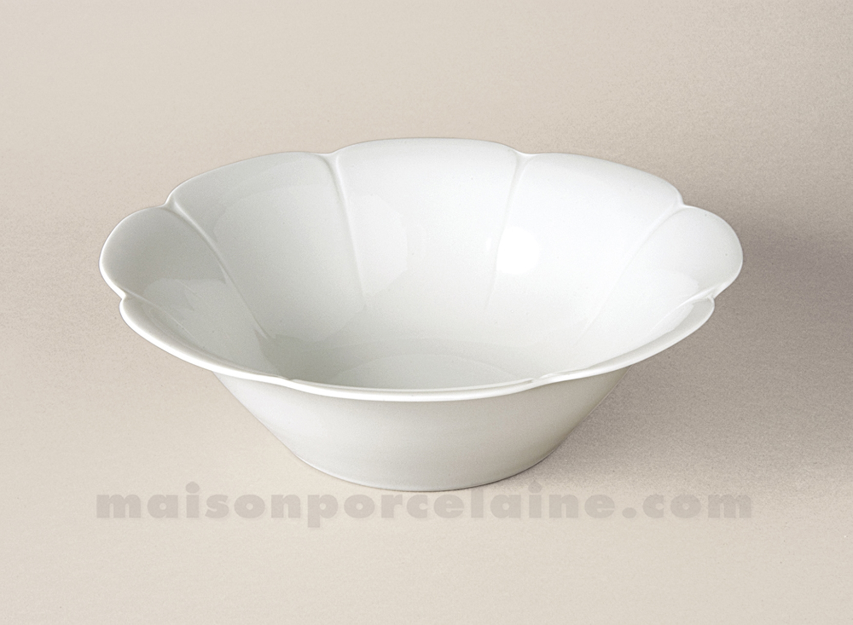 saladier limoges porcelaine blanche nymphea mm d25 maison de la porcelaine. Black Bedroom Furniture Sets. Home Design Ideas