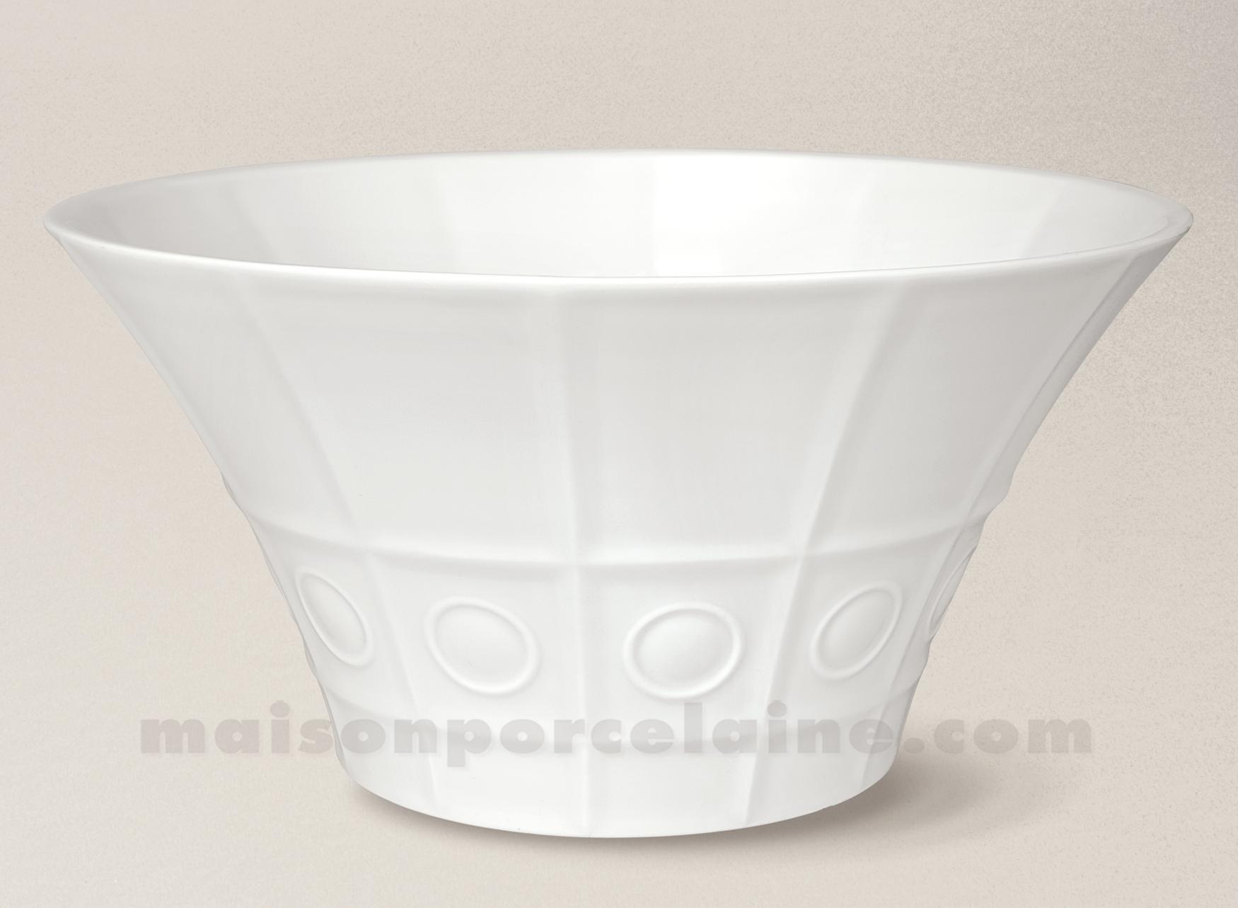 saladier limoges porcelaine blanche osmose gm maison de la porcelaine. Black Bedroom Furniture Sets. Home Design Ideas
