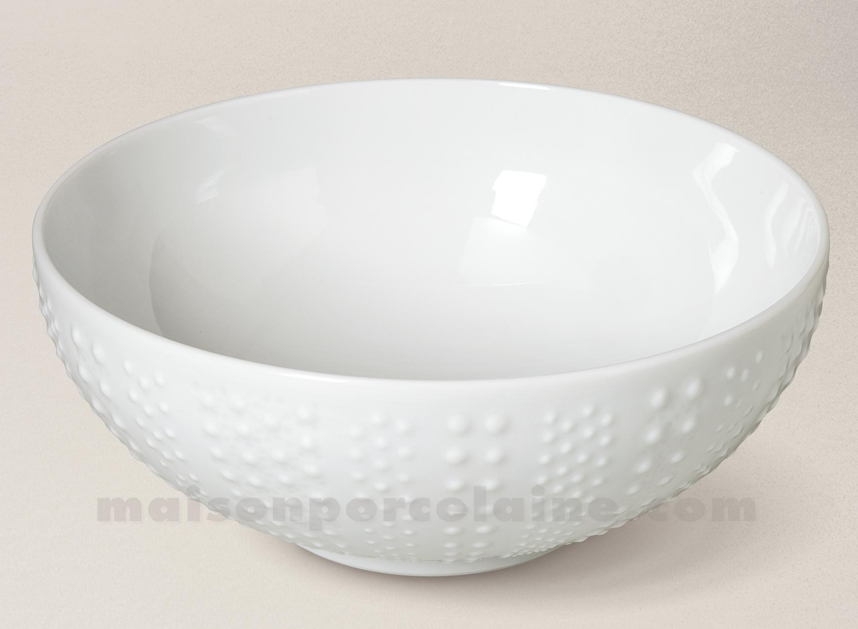 saladier pate extra blanche limoges sania 23x9 5 maison de la porcelaine. Black Bedroom Furniture Sets. Home Design Ideas