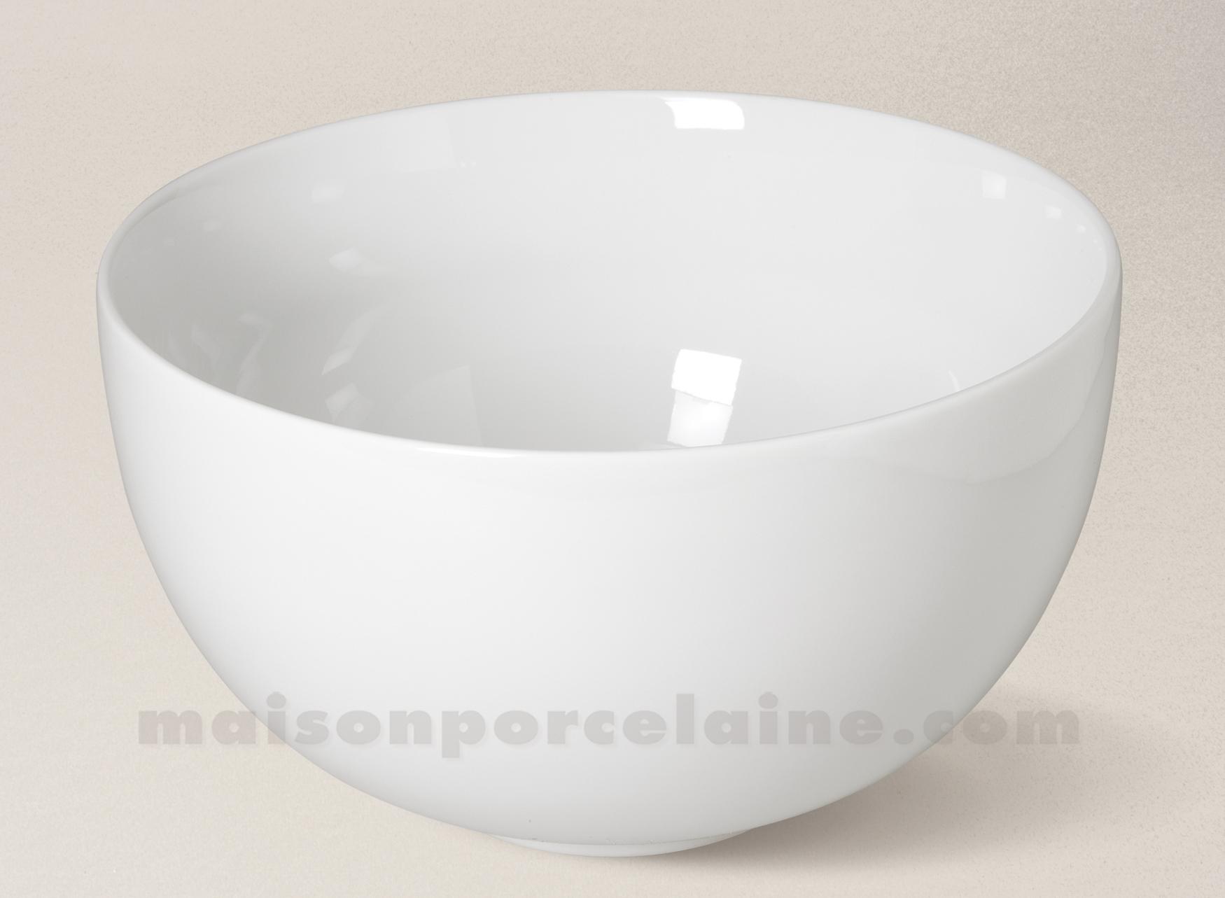 saladier porcelaine blanche boule d23 maison de la porcelaine. Black Bedroom Furniture Sets. Home Design Ideas